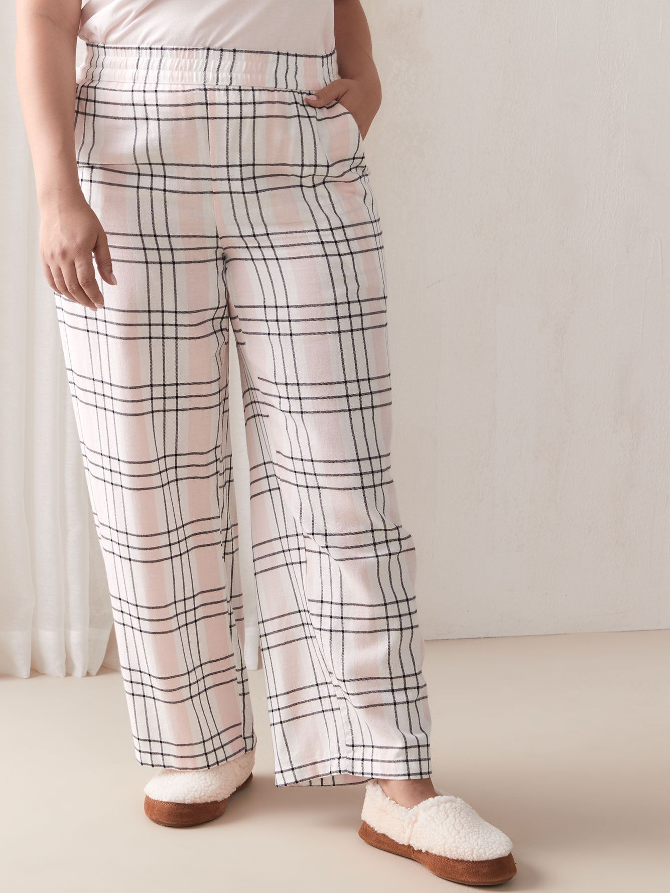 Plaid Flannel PJ Pants - Addition Elle