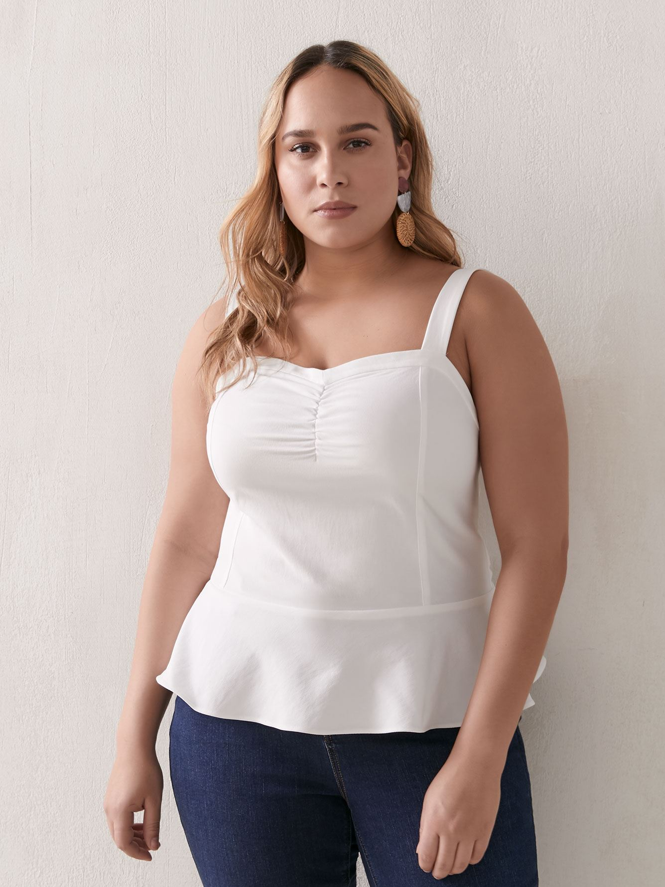 Fitted Peplum Bustier Cami - Addition Elle