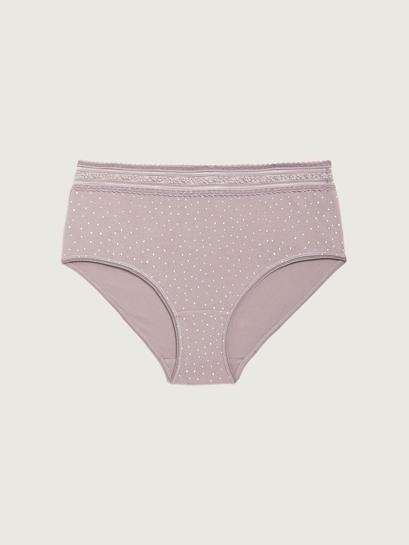 Printed Cotton Brief Panty - Addition Elle