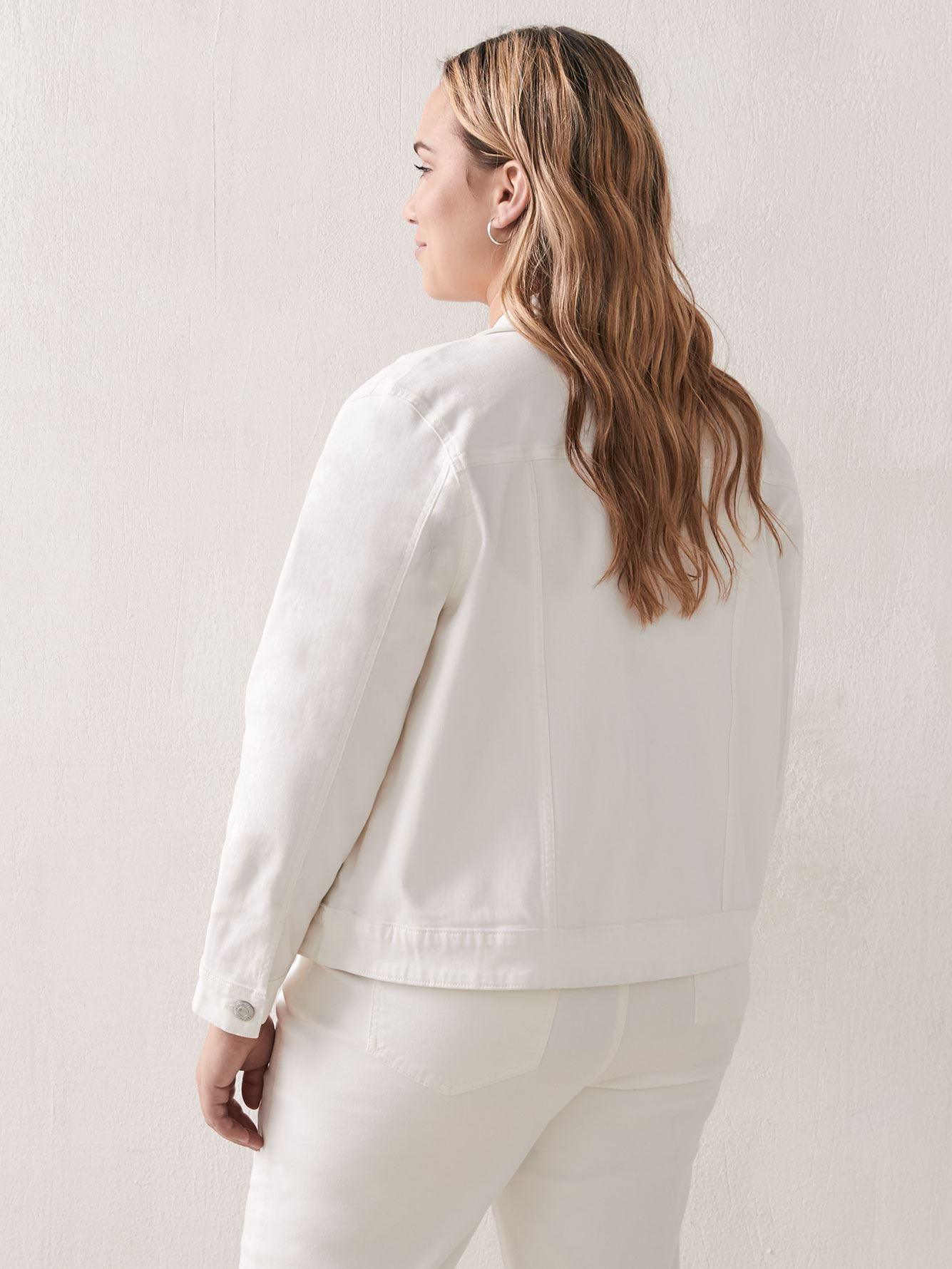 Classic White Denim Jacket - Addition Elle