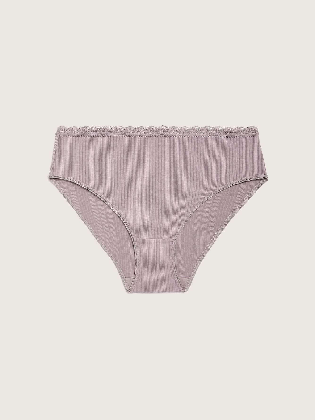 Textured High Cut Brief Panty - Addition Elle