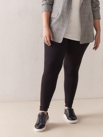 Basic Leggings with Wide Waistband - Addition Elle