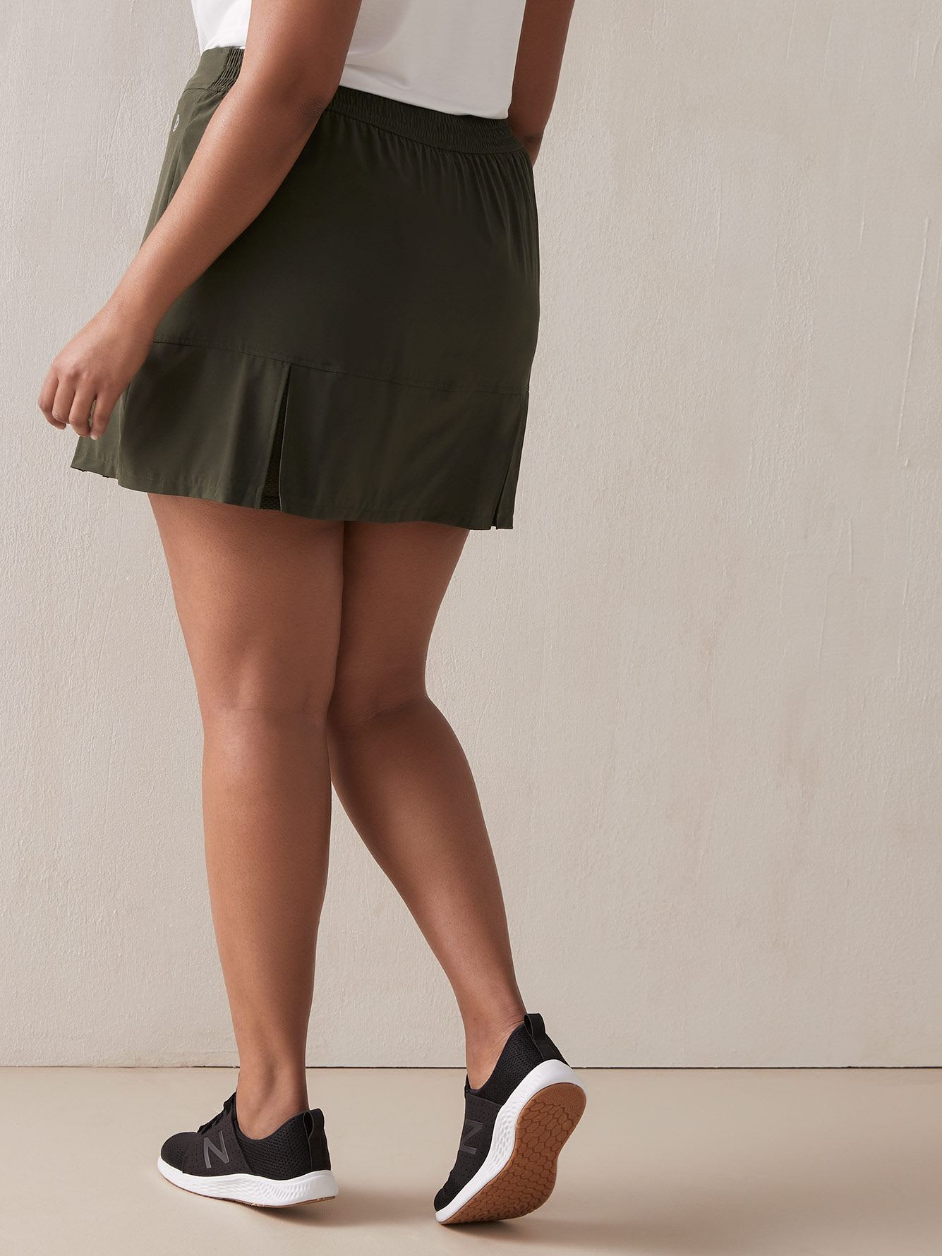 Solid Skort with Pleats