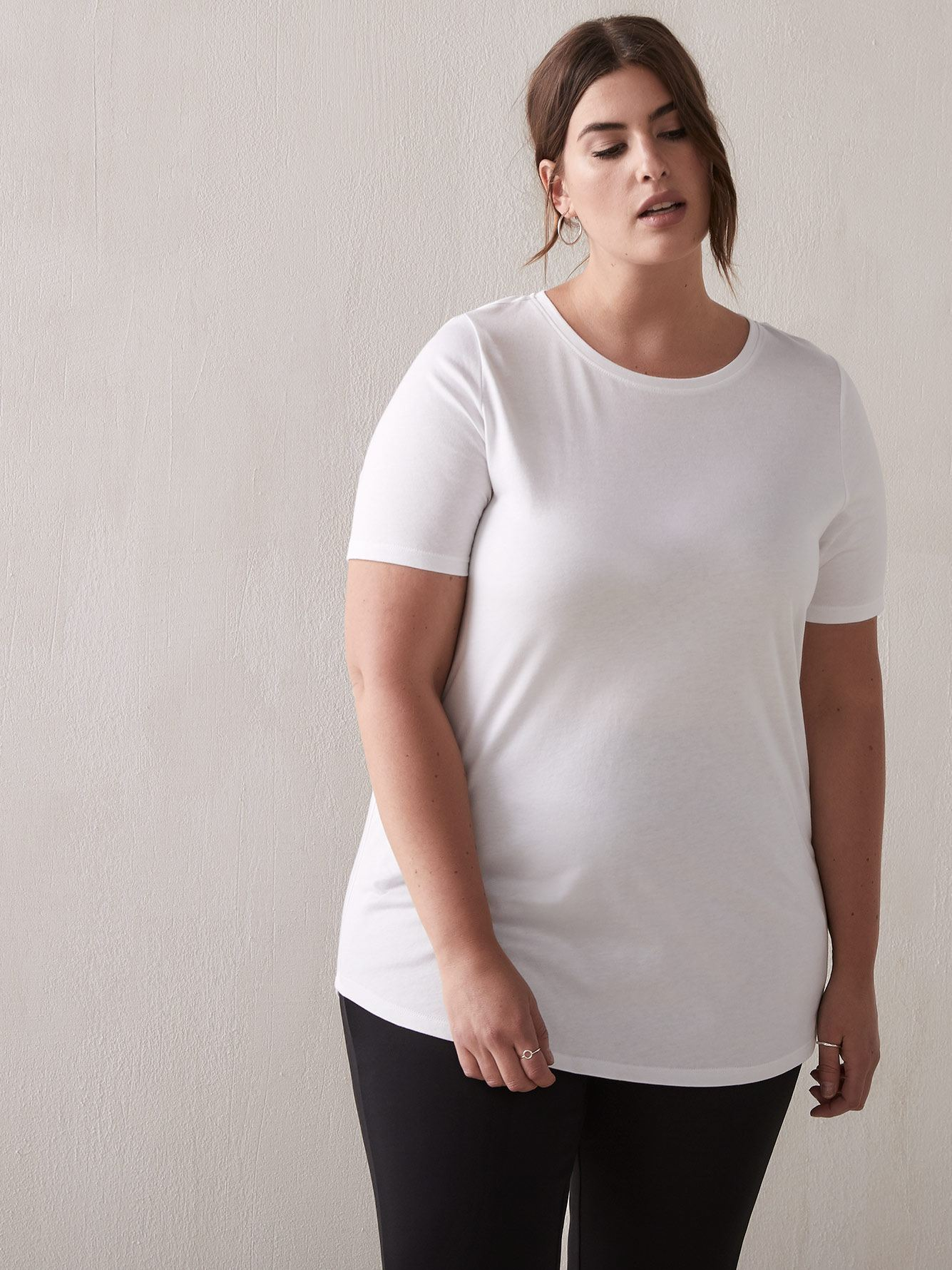 Modern Cotton Modal T-Shirt - Addition Elle