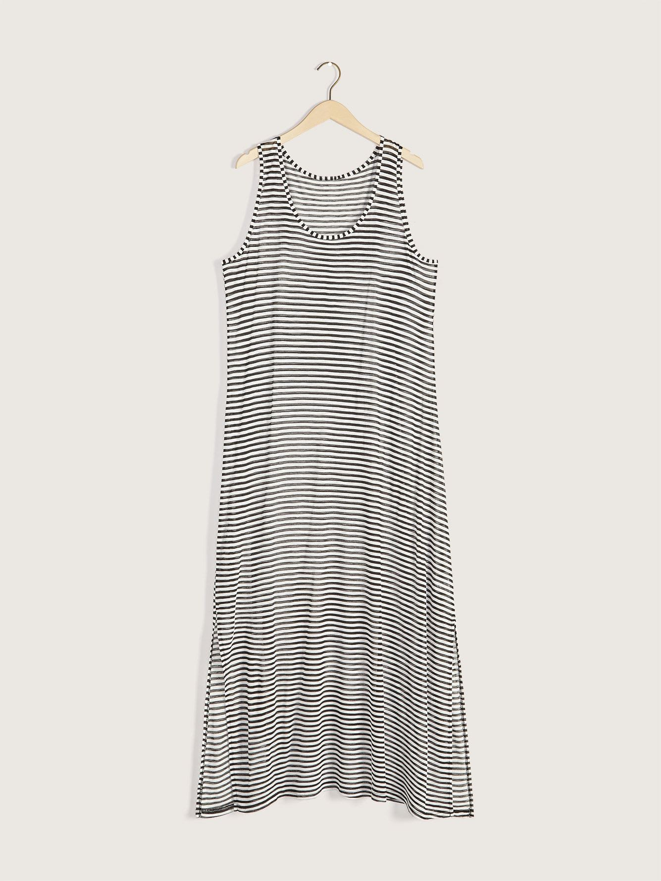 Striped Maxi Cover-Up Dress - Cover Me