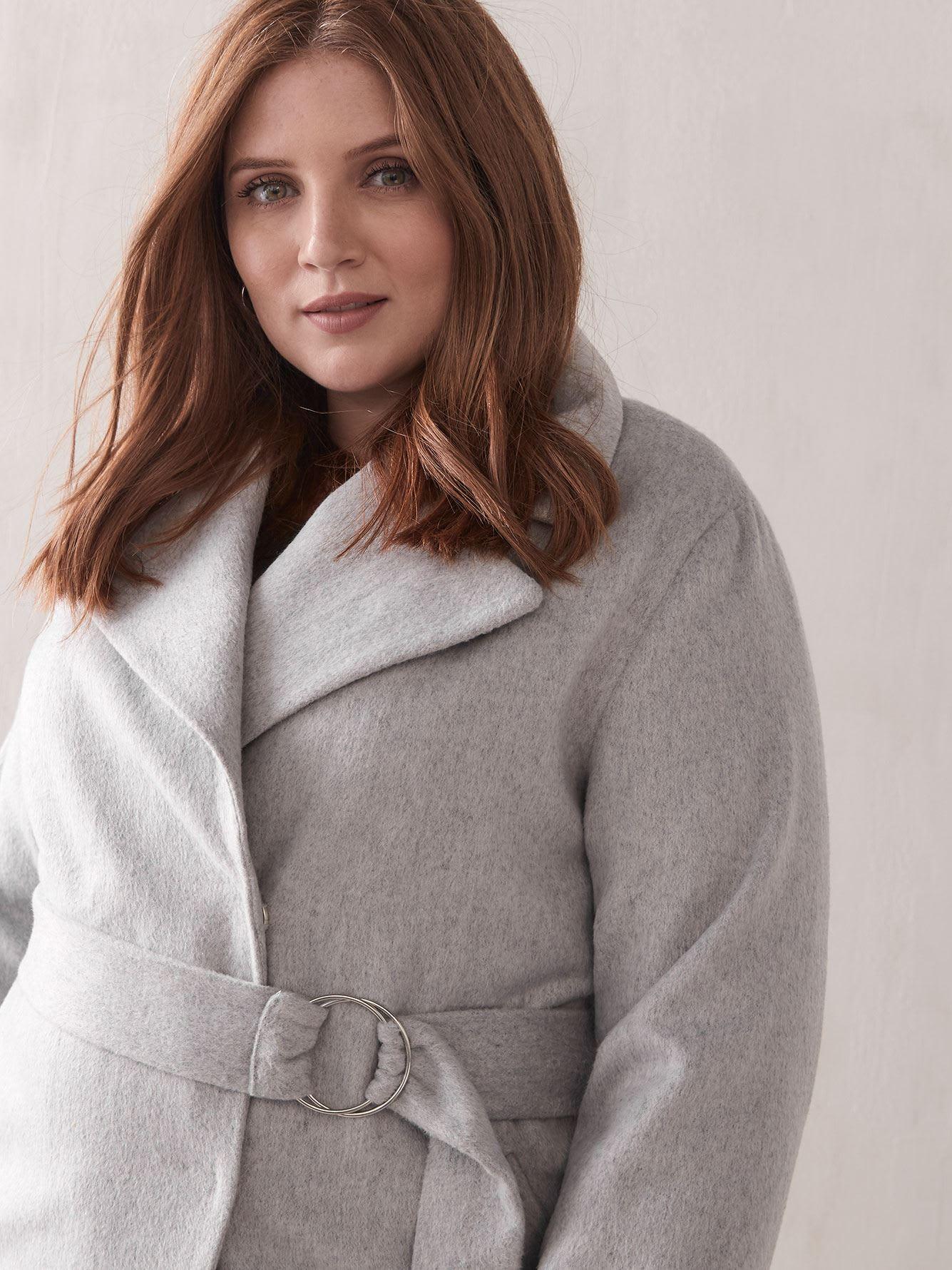 Belted Wrap Coat - Addition Elle