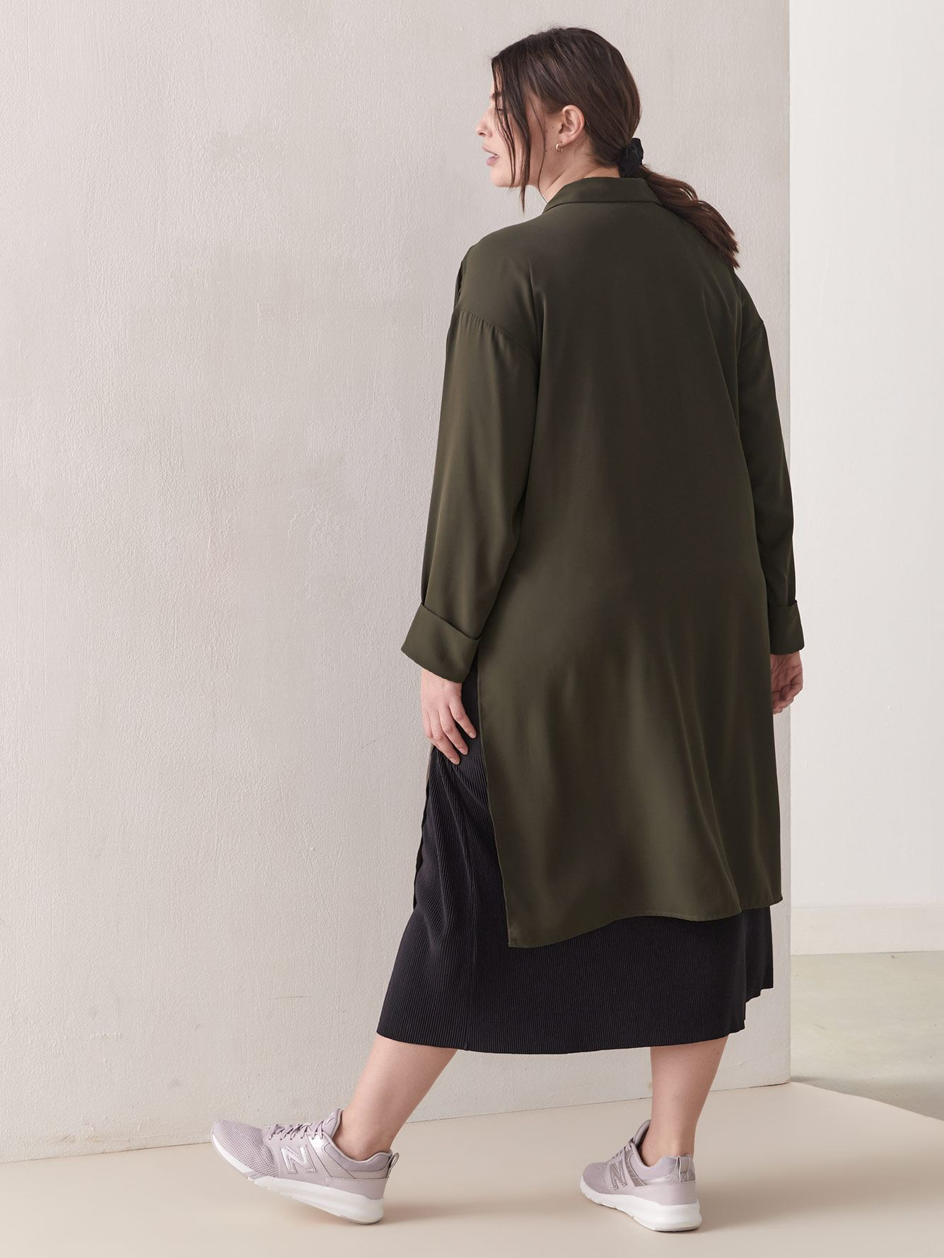Button-Down Tunic Blouse - Addition Elle