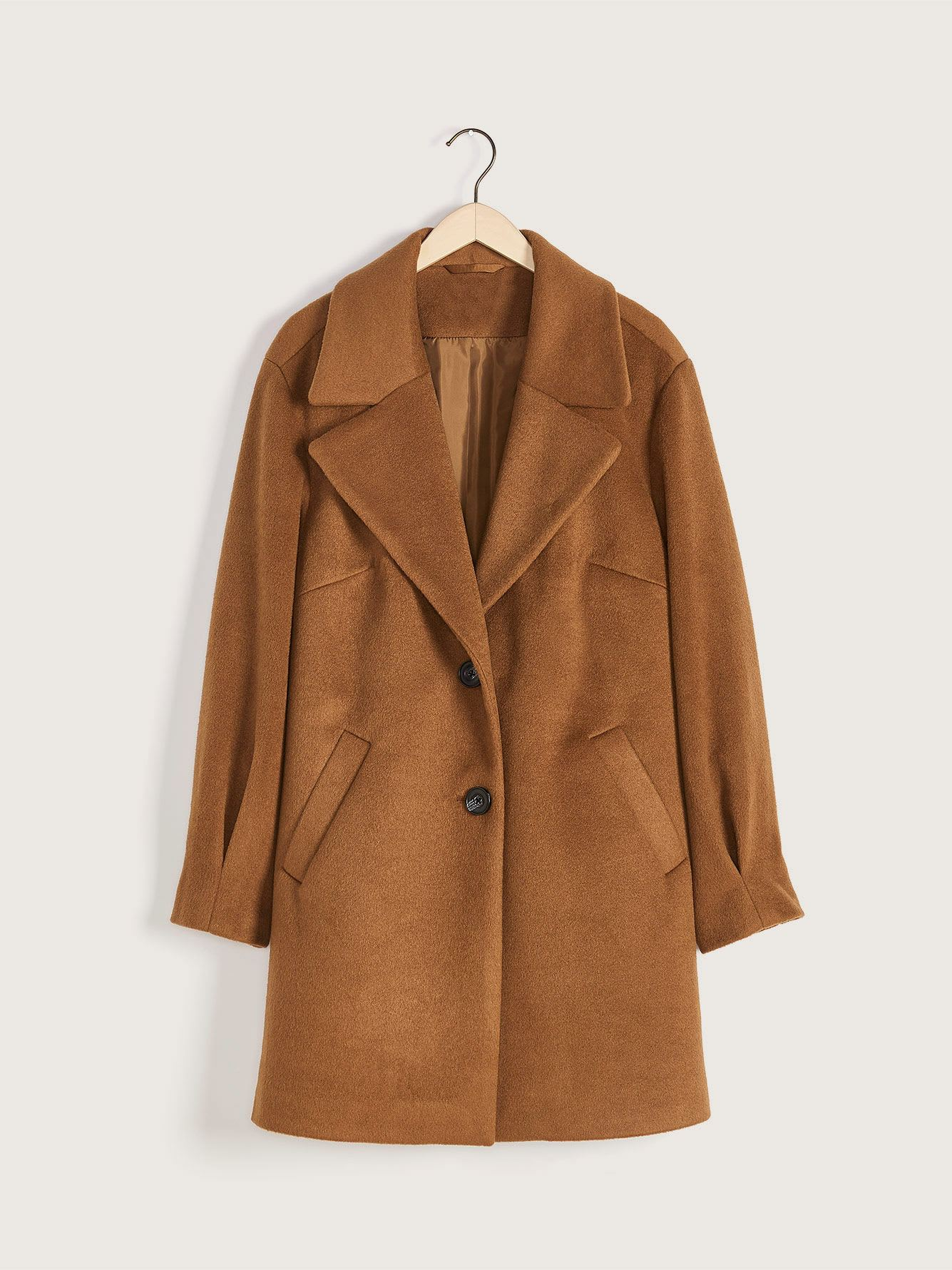 Mid-Length Cocoon Coat - Addition Elle