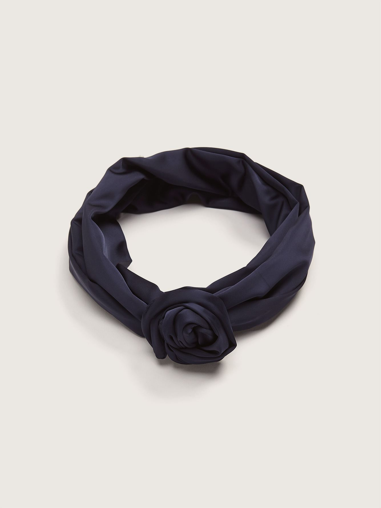 XL Twisted Satin Headband with Integrated Metal Rod - Gibou
