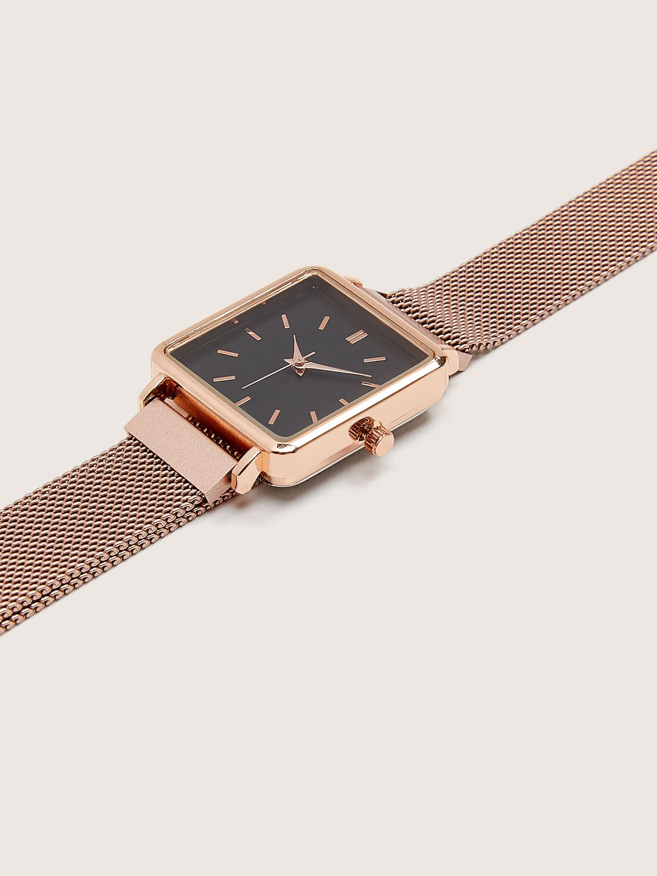 Square Face Mesh Watch - Addition Elle