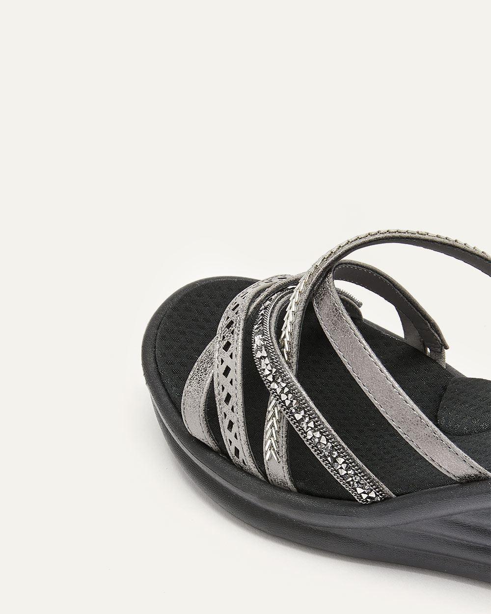 Skechers Rumblers Wave, New Lassie - Wide Width Wedge Sandals