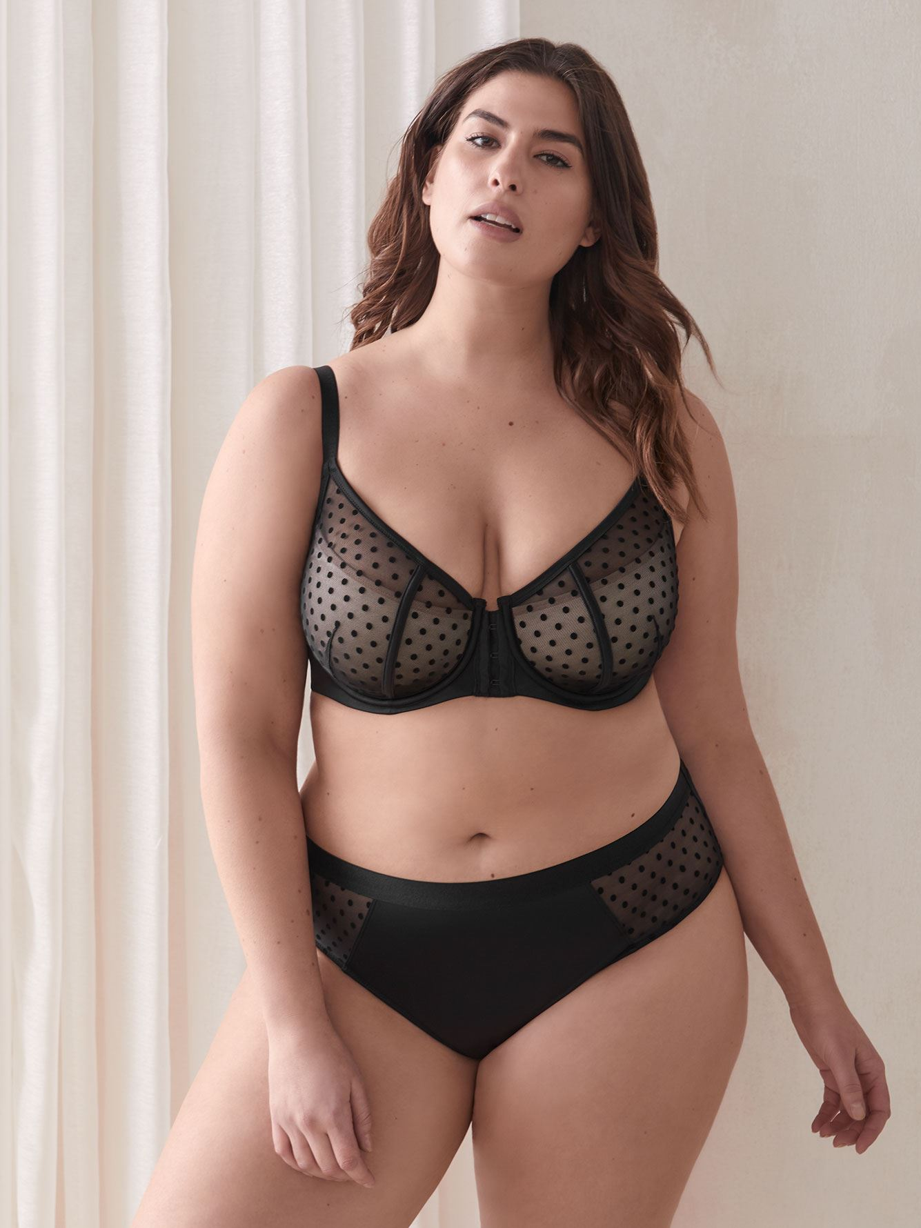 Soutien-gorge à demi-bonnet, fermeture avant - Ashley Graham