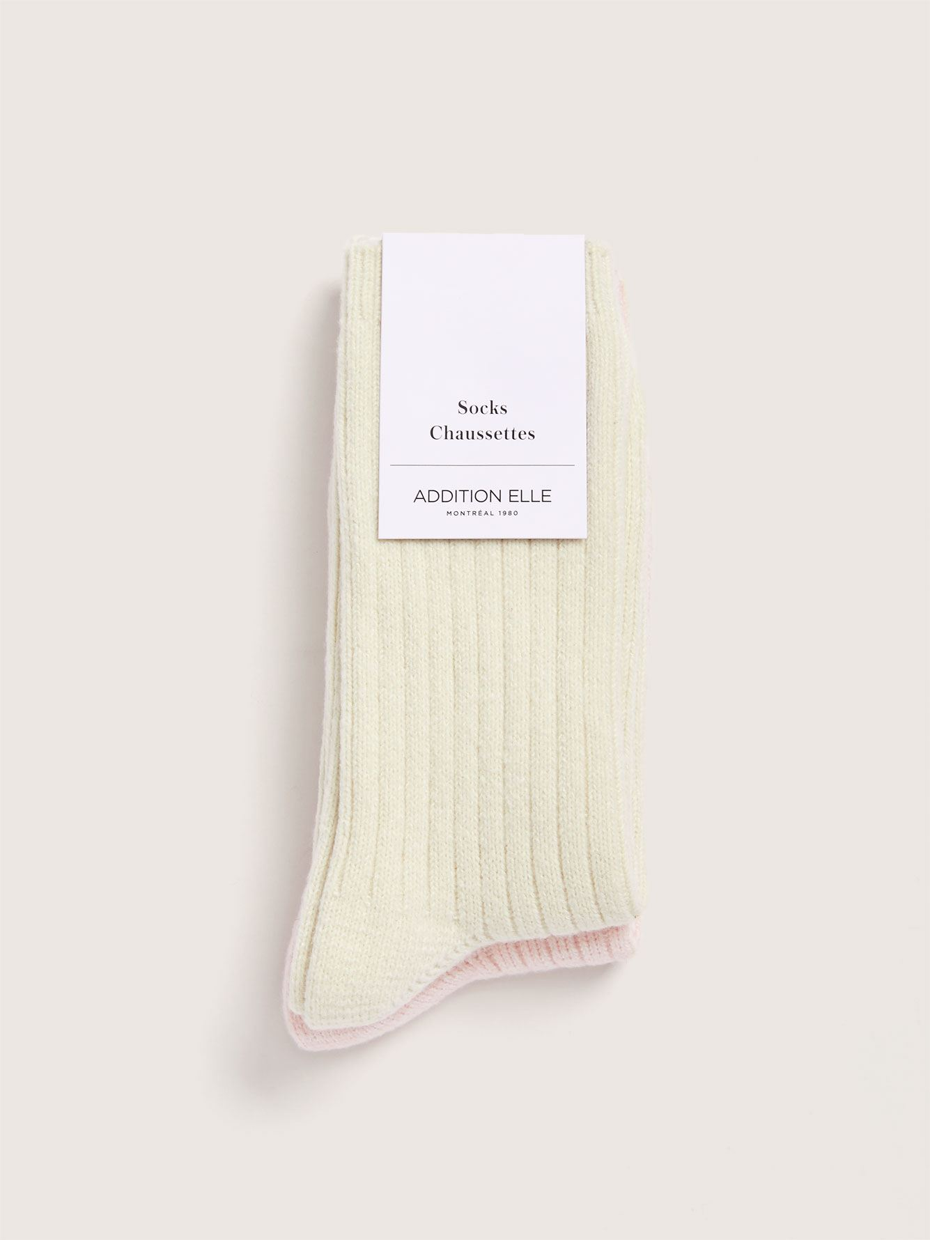 Ribbed Non-Slip Socks, Pack of 2 - Addition Elle