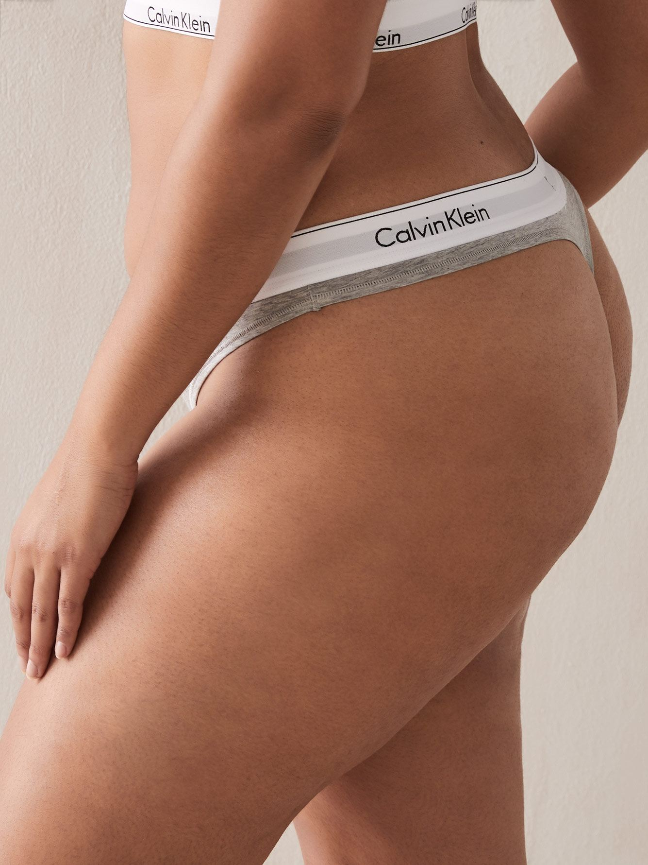 Cotton Mix Thong Panty - Calvin Klein