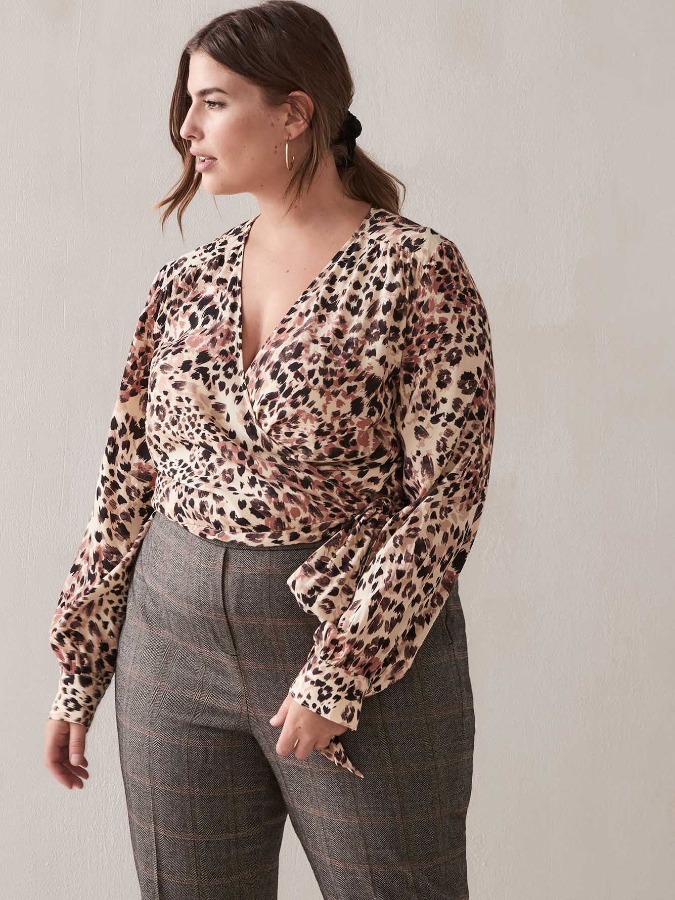 Cropped Wrap Blouse - Addition Elle