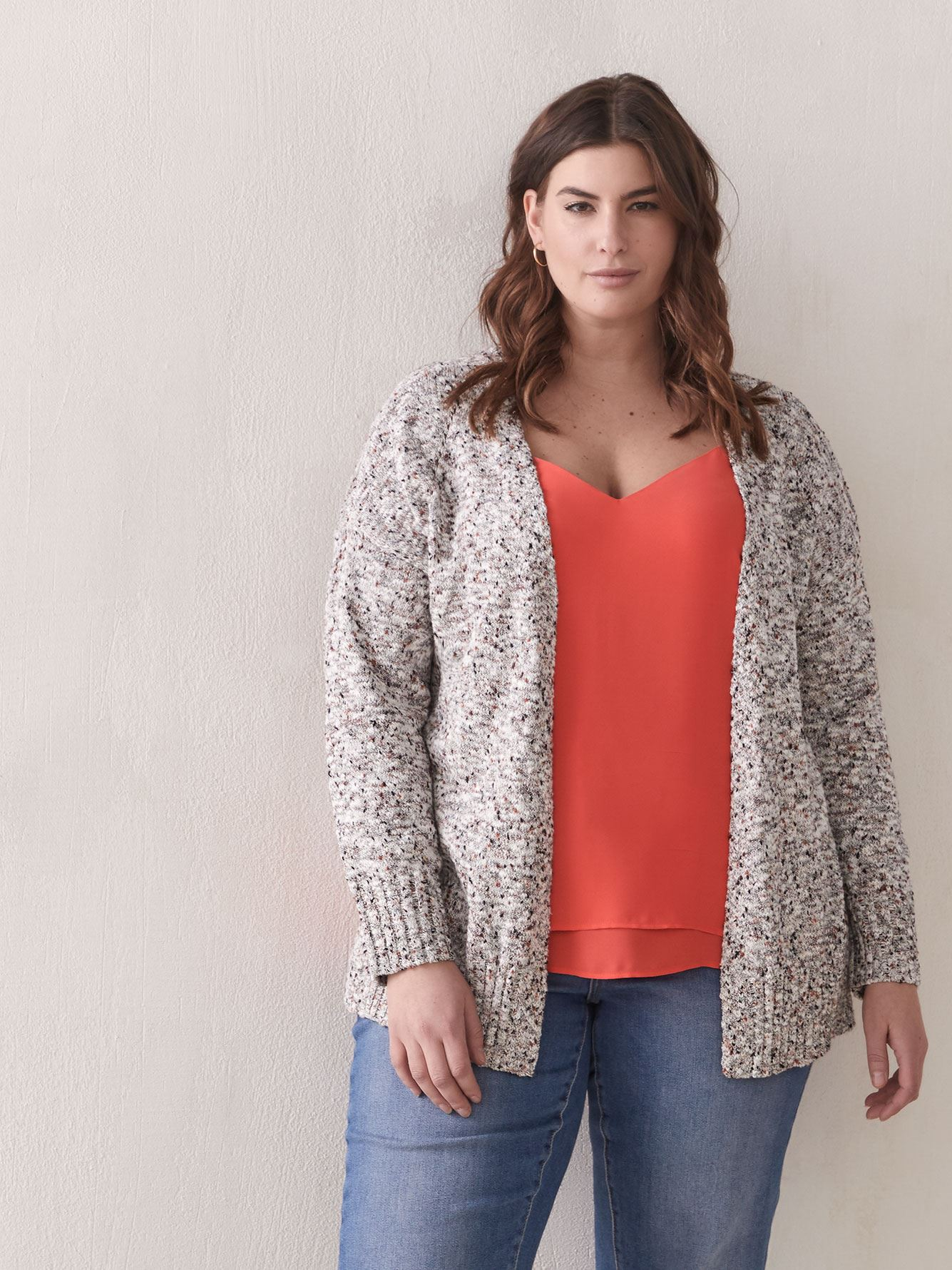 Hi-Low Edge to Edge Cardigan - Addition Elle