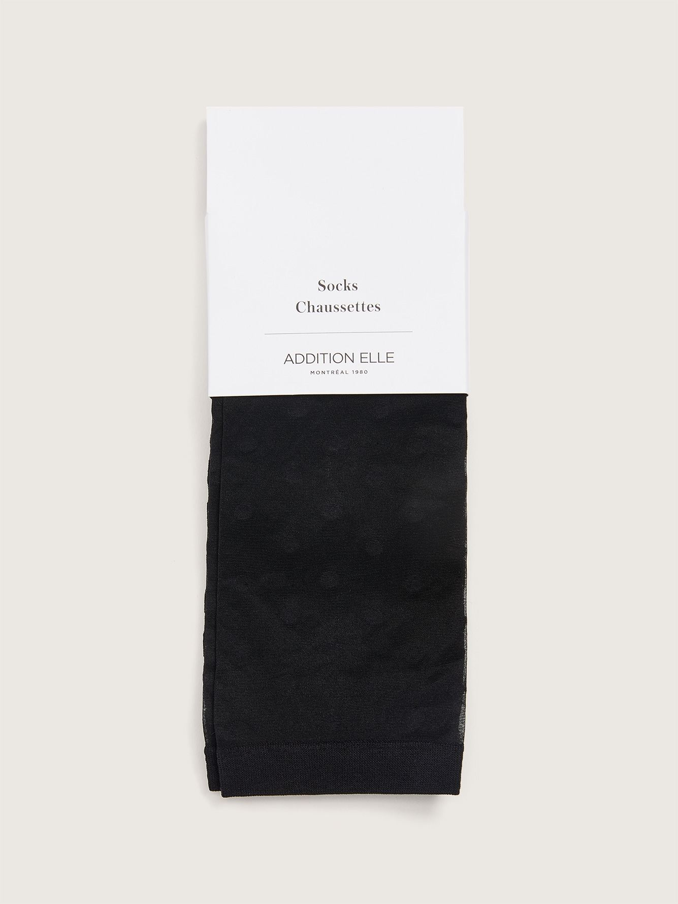 2 Pairs of Sheer Striped & Dotted Socks - Addition Elle