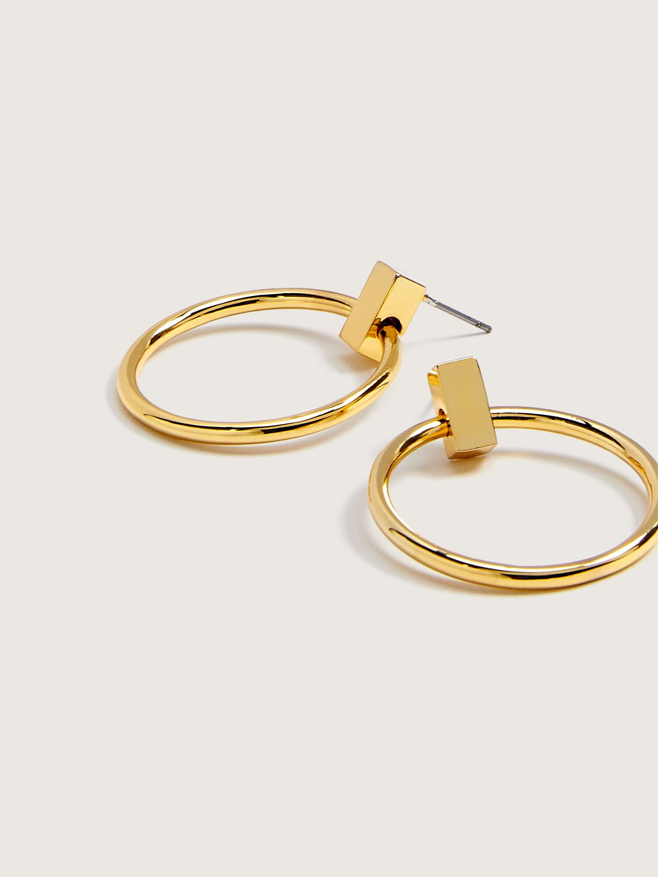Plated Small Hoop Earrings - Addition Elle