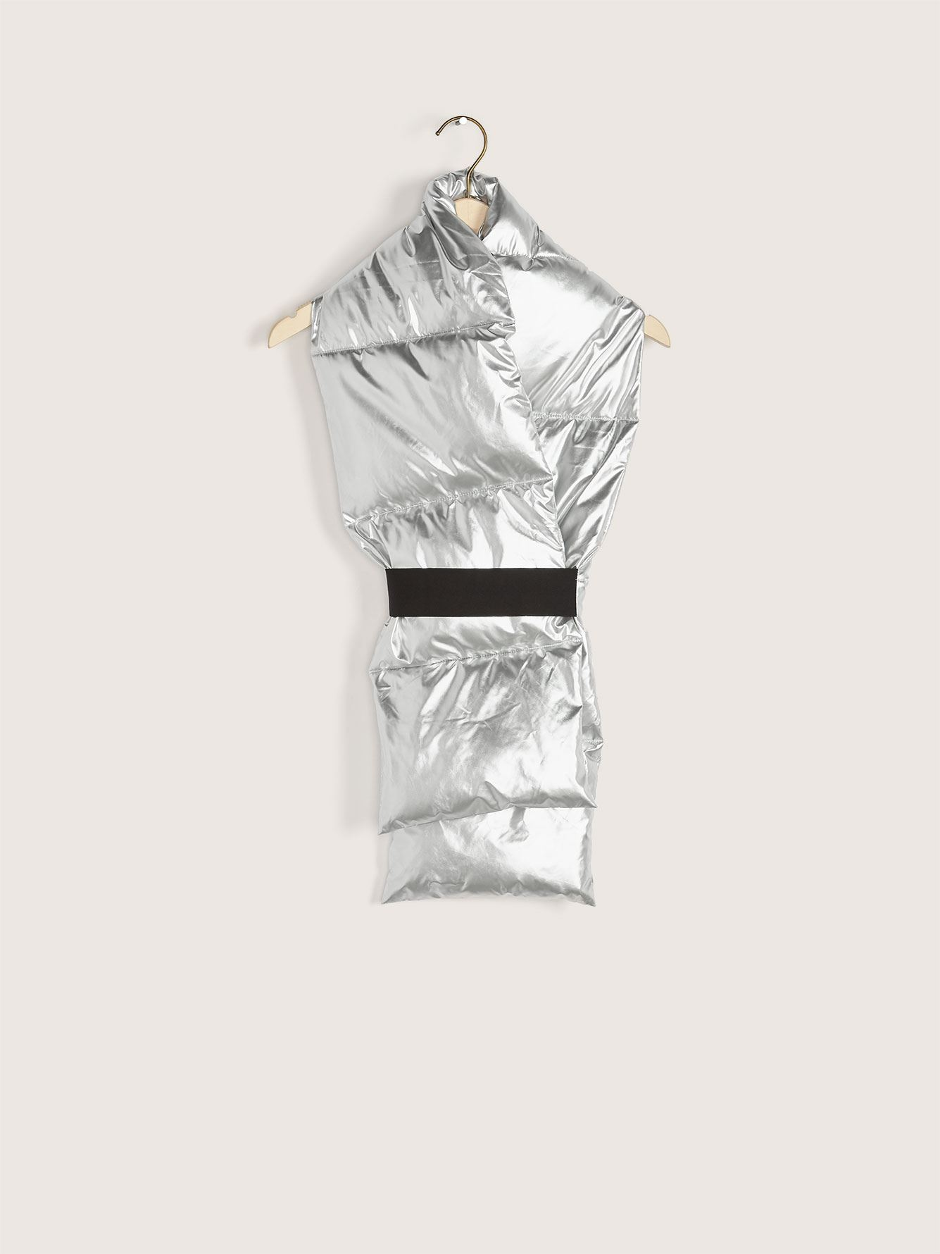 Oblong Puffer Metallic Scarf - Addition Elle