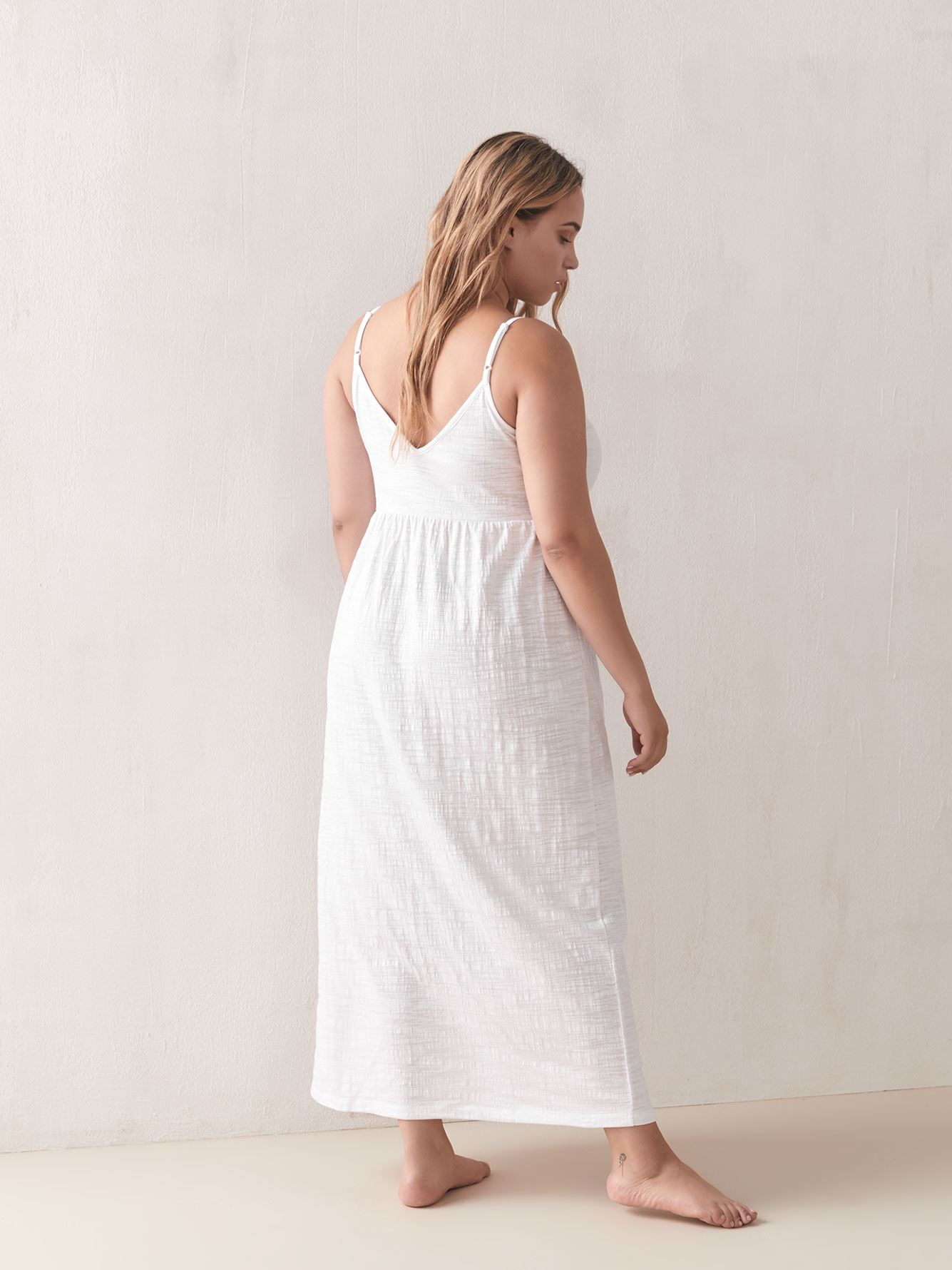 Button-Down Maxi Cover-Up Dress - Addition Elle