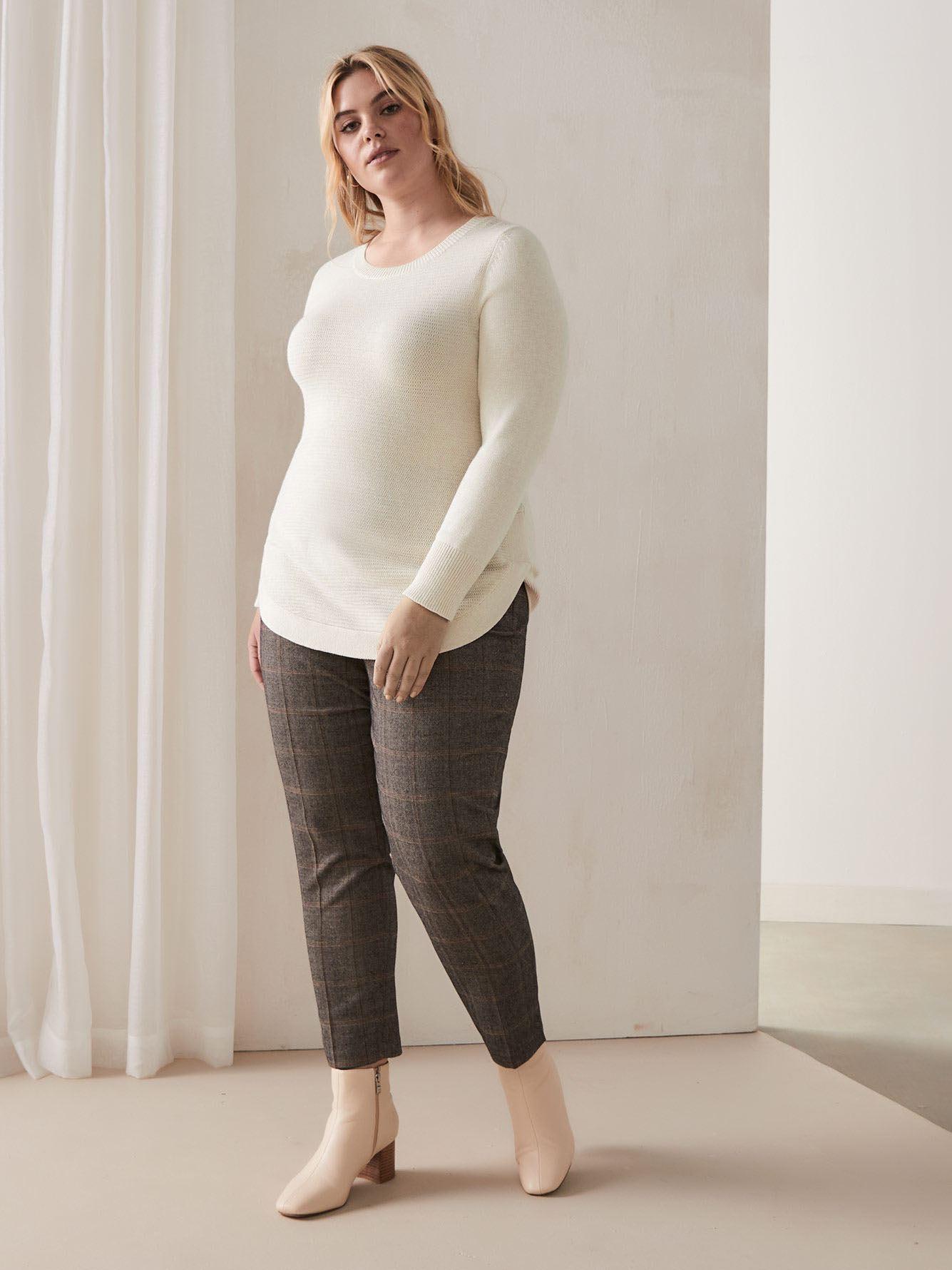 Curved Hem Sweater - Addition Elle