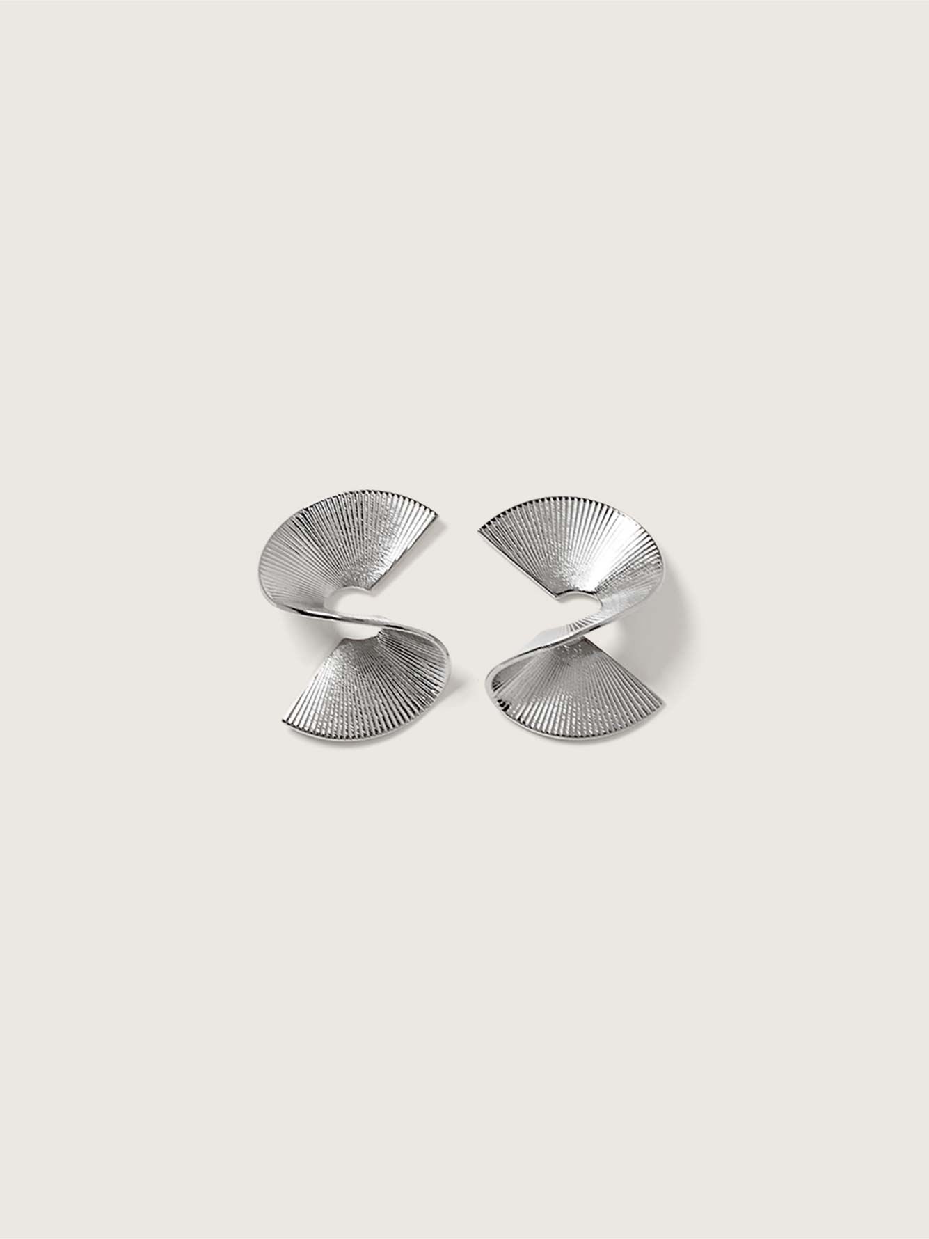 14K Plated Solaware Stud Earrings - Biko