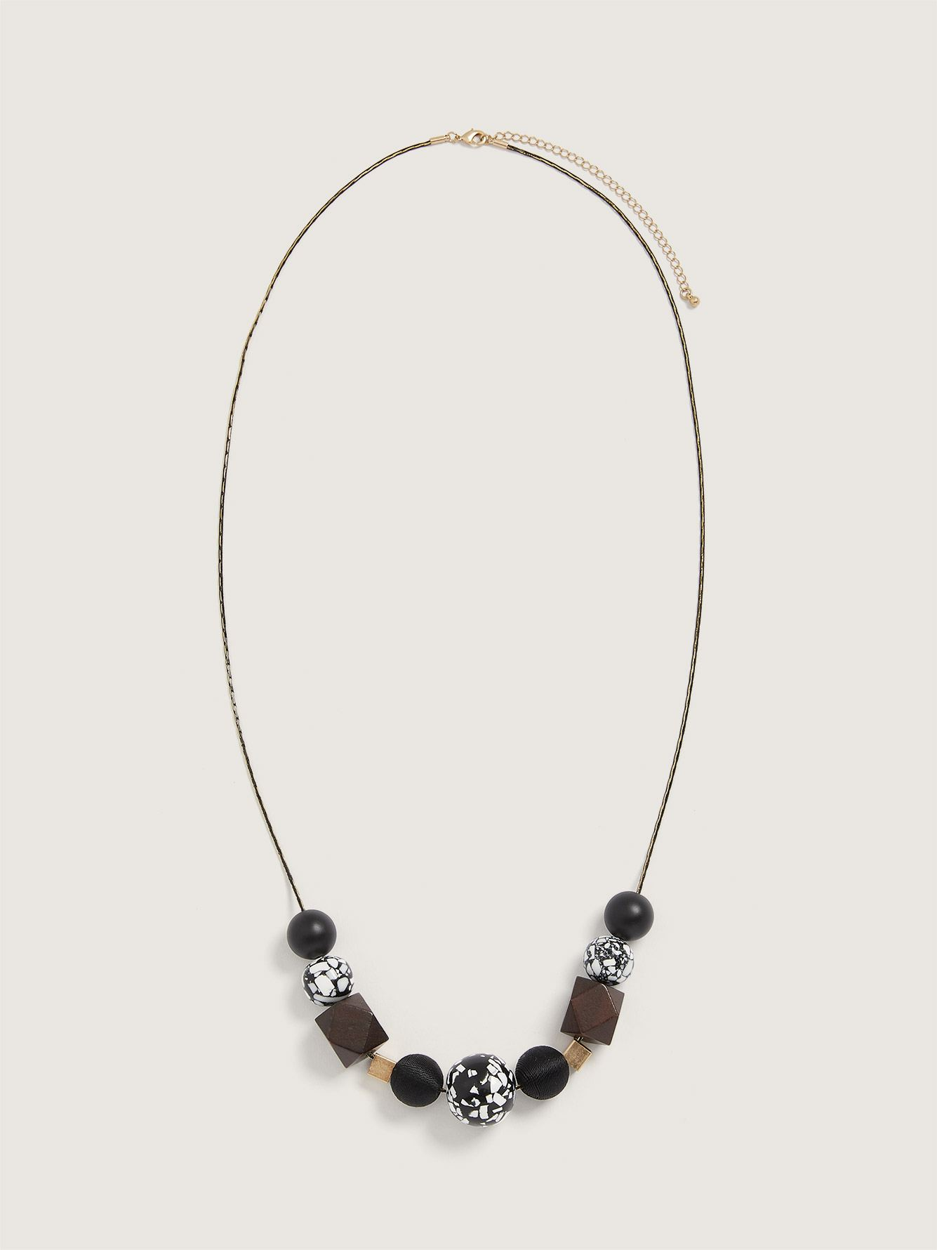 Long Necklace with Geo Beads