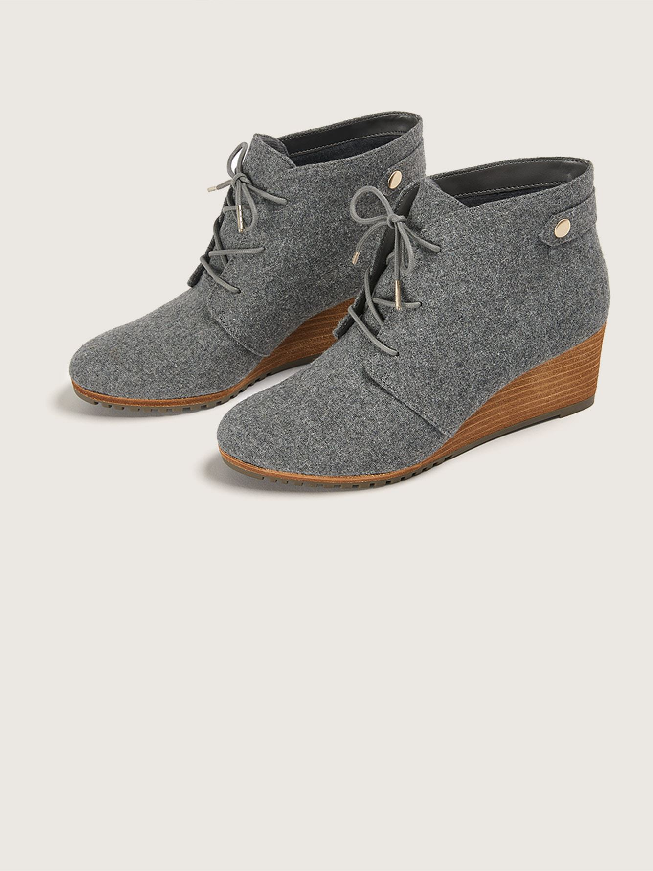 Wide Lace-Up Conquer Wedge Bootie - Dr. Scholl's