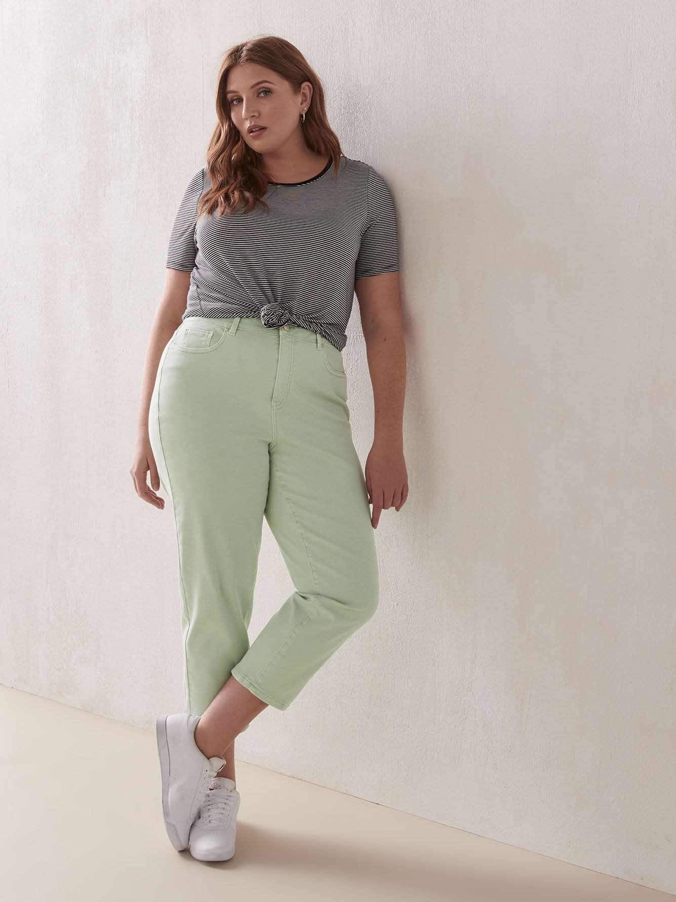 Mid-Rise Cropped Slim Leg Jeans - Addition Elle