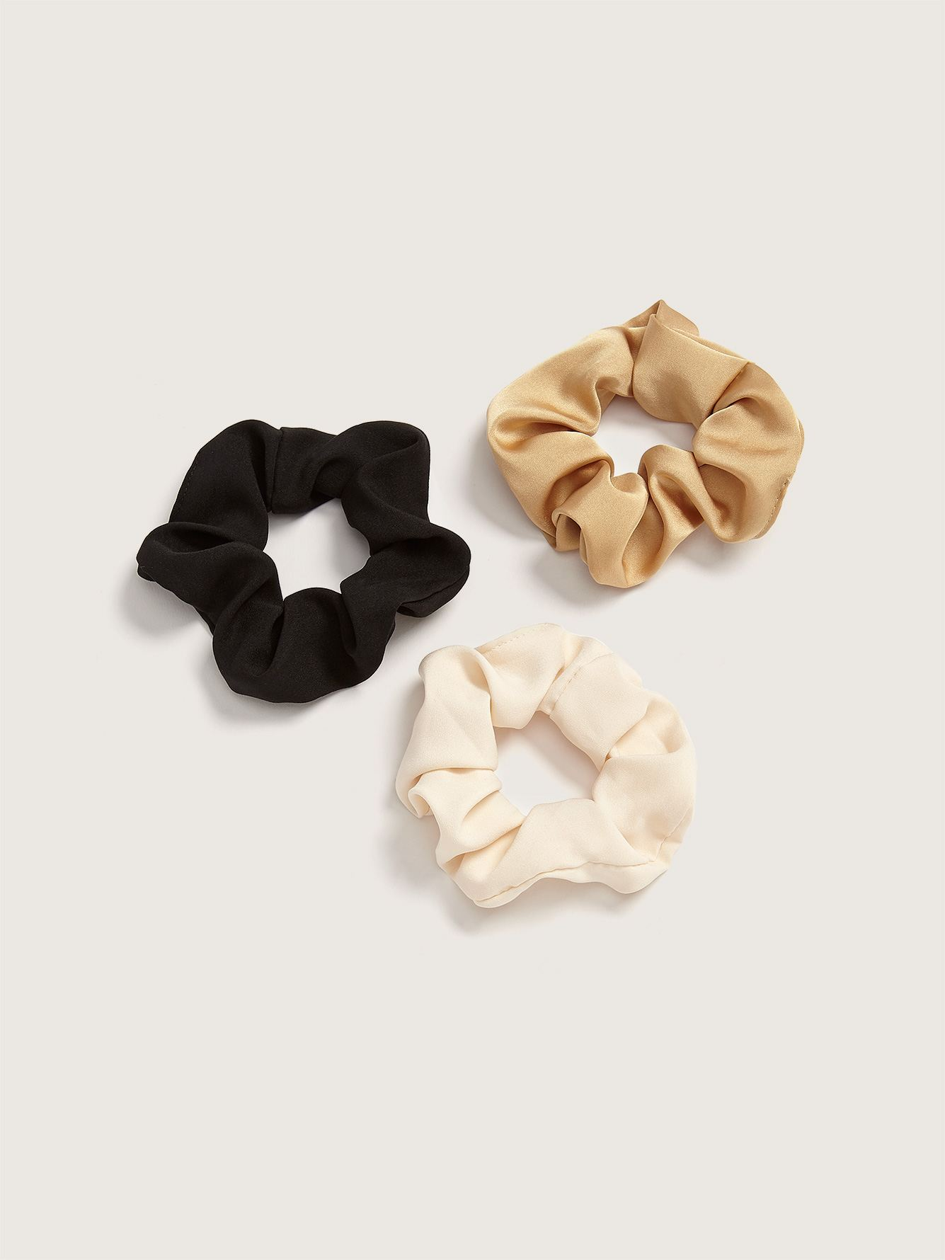 Pack of 3 Satin Scrunchies - Addition Elle