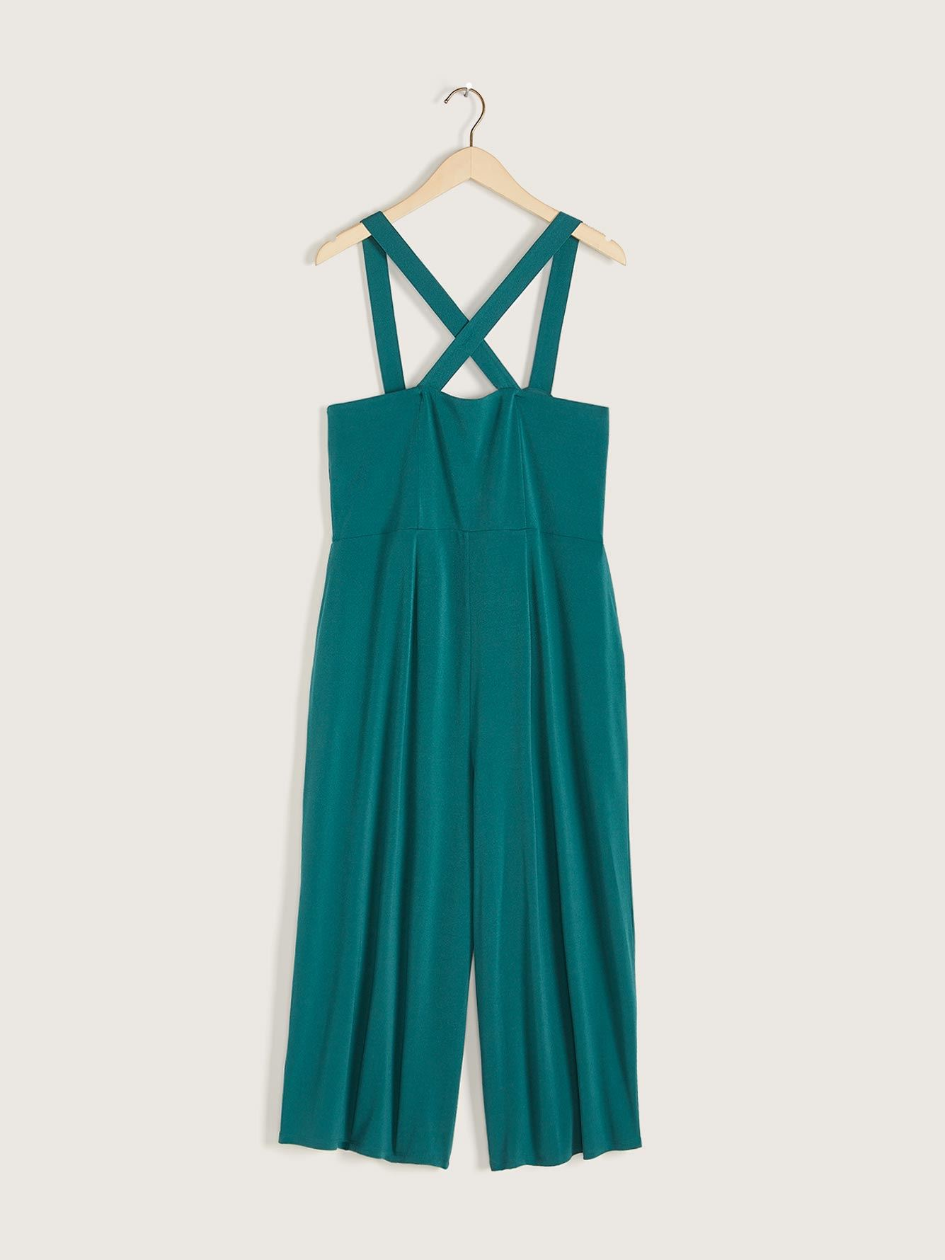 Solid Sleeveless Ankle Length Jumpsuit - Addition Elle