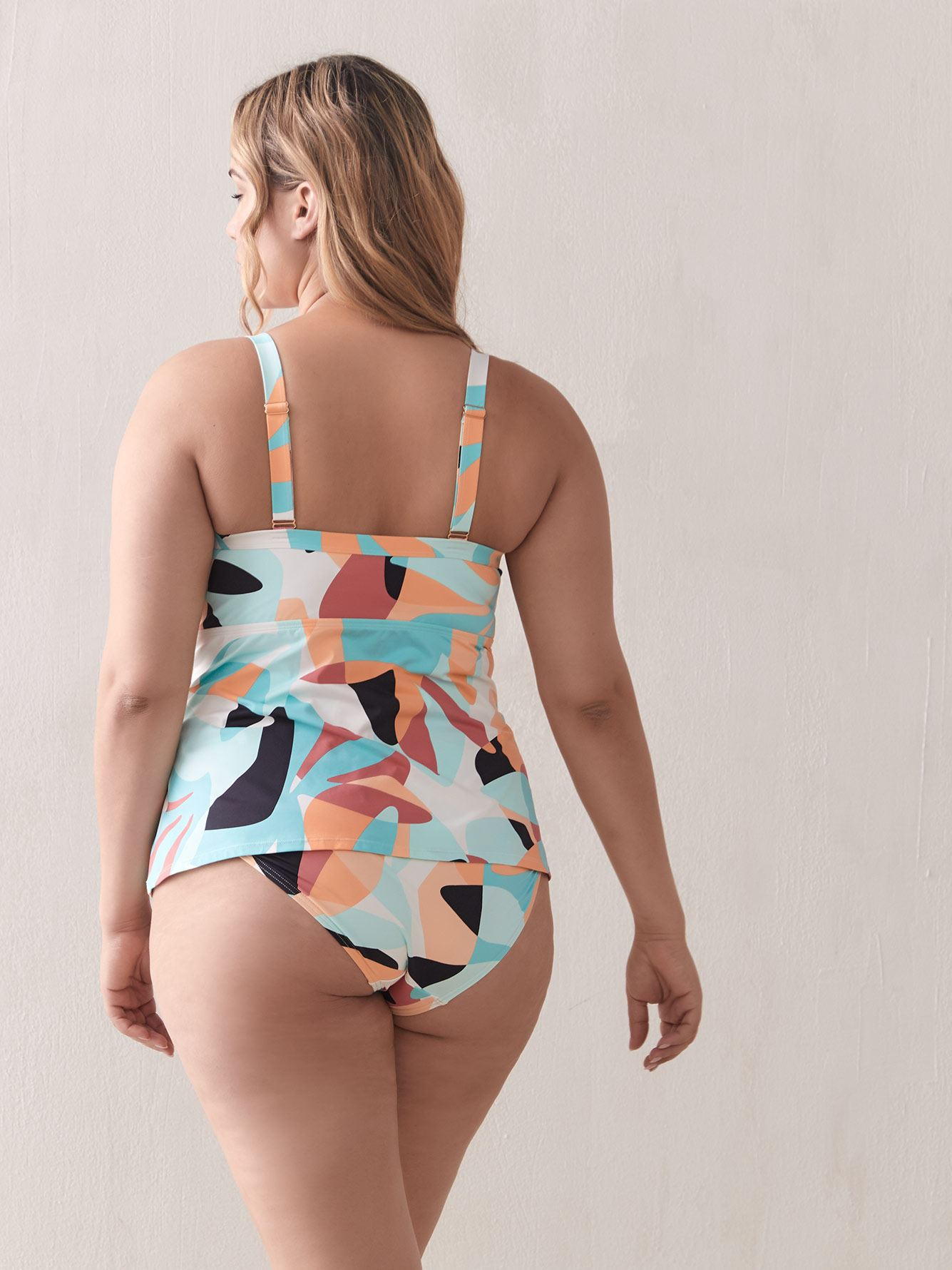 Printed Tankini Top with Front Tie - Addition Elle