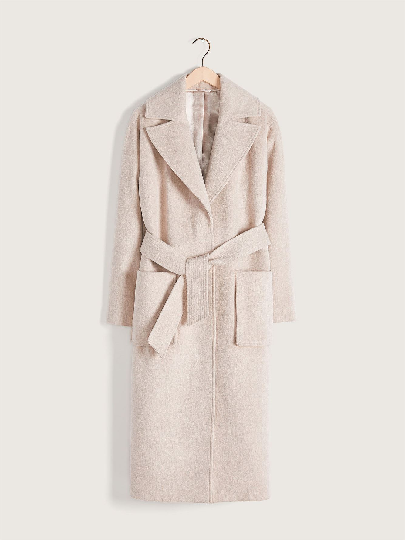 Belted Wool-Blend Coat - Addition Elle