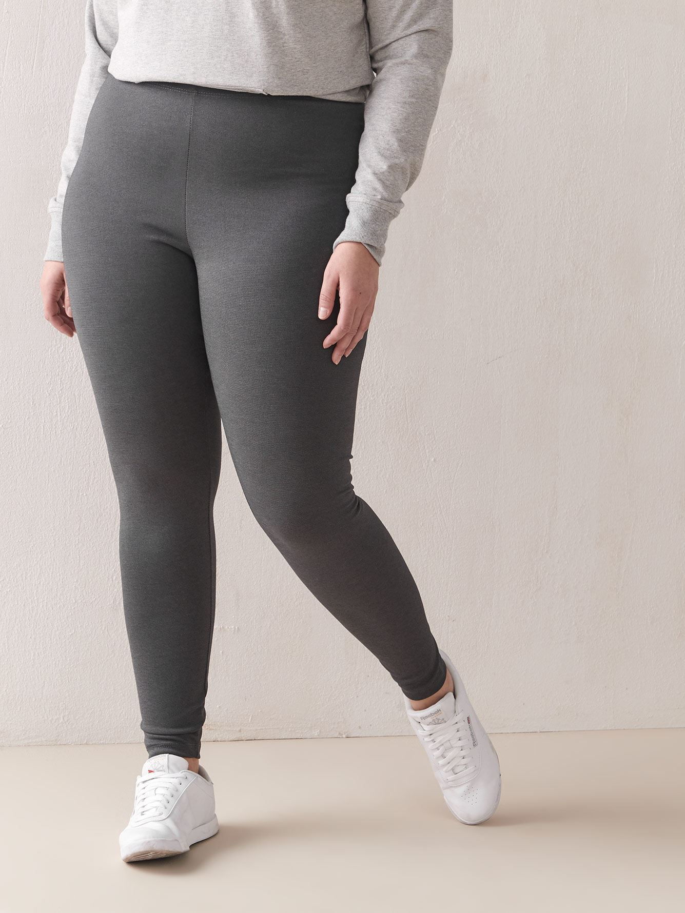 Ottoman Ribbed Leggings - Addition Elle