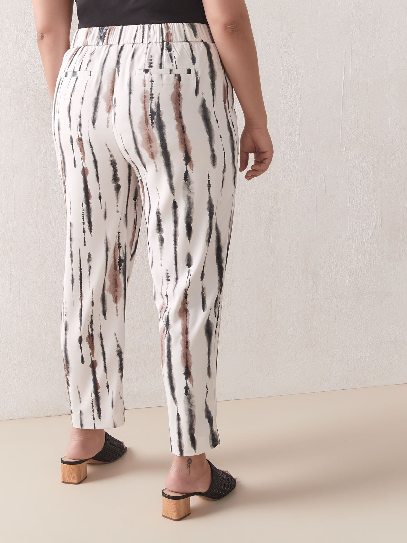 Printed Peg Leg Ankle Length Pant - Addition Elle