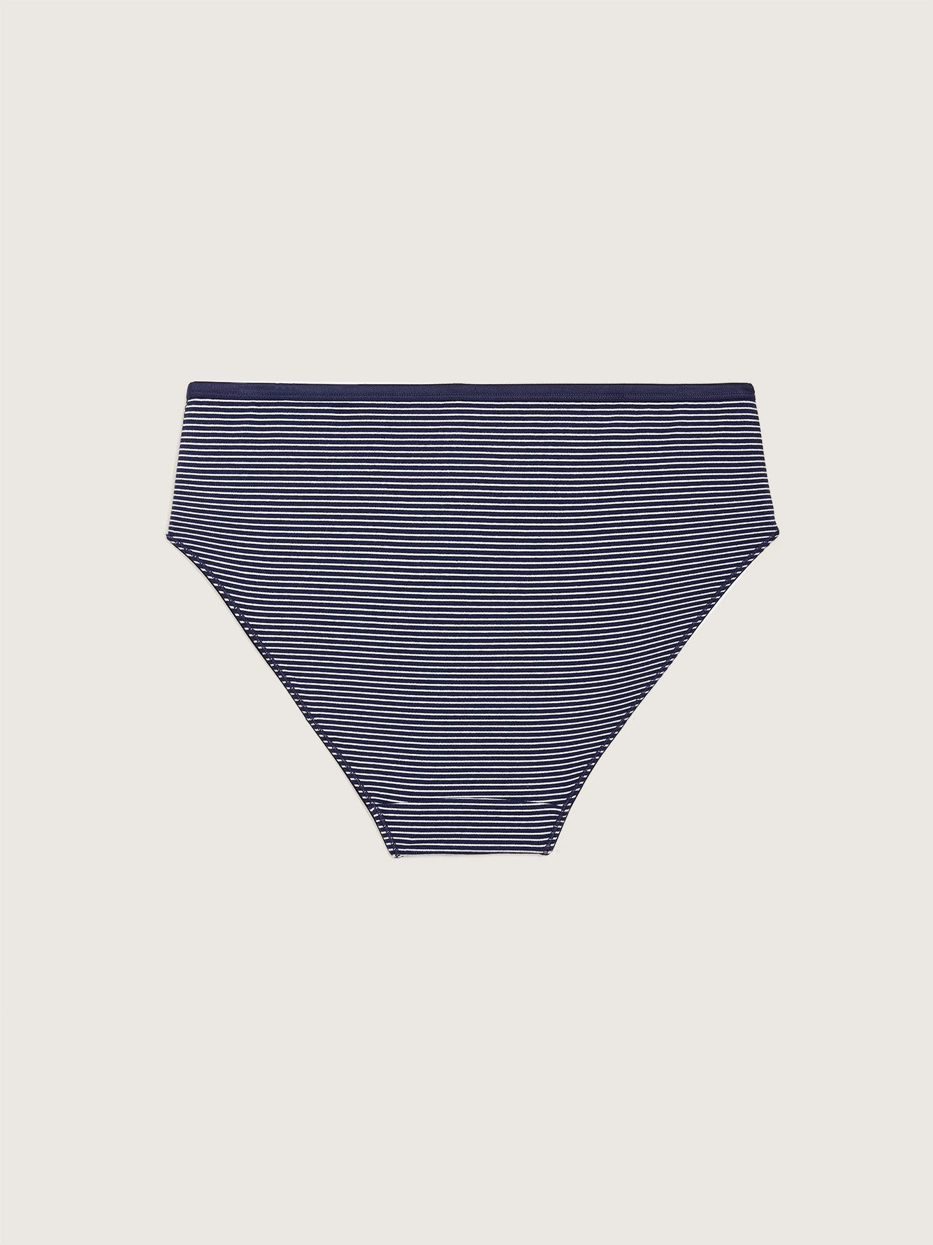 Striped High Cut Brief Panty - Addition Elle