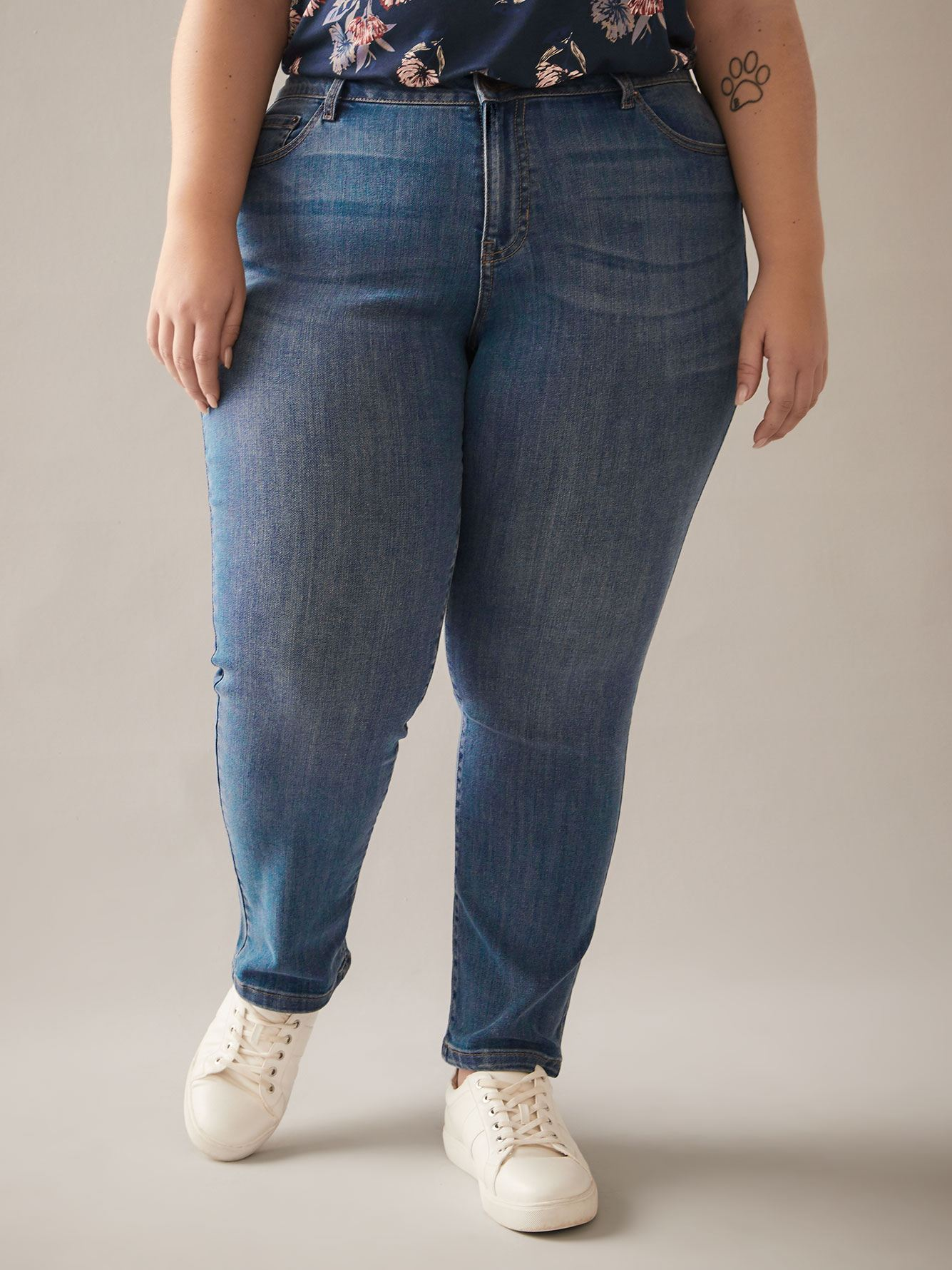 Tall, Straight Leg Blue Jean - d/C JEANS