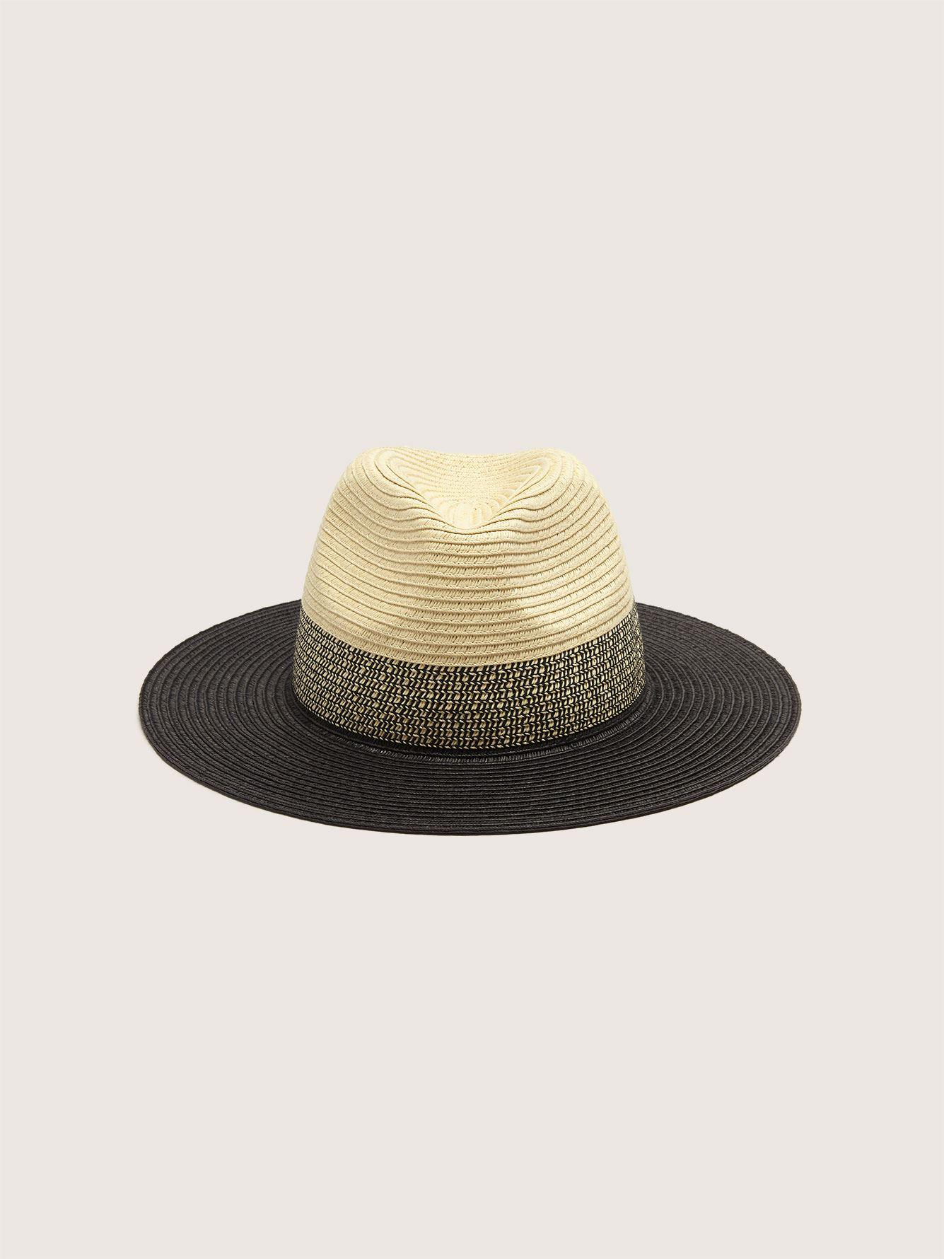 Colour Block Straw Fedora Hat - Addition Elle