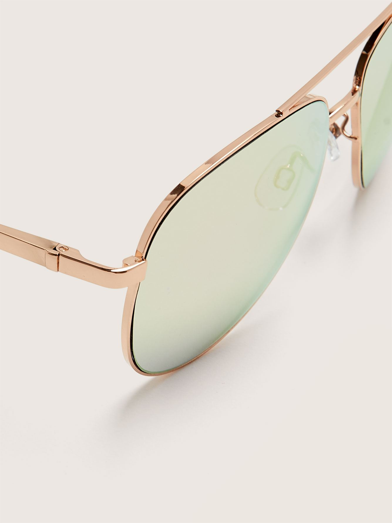 Rose Gold Aviator Sunglasses - Addition Elle