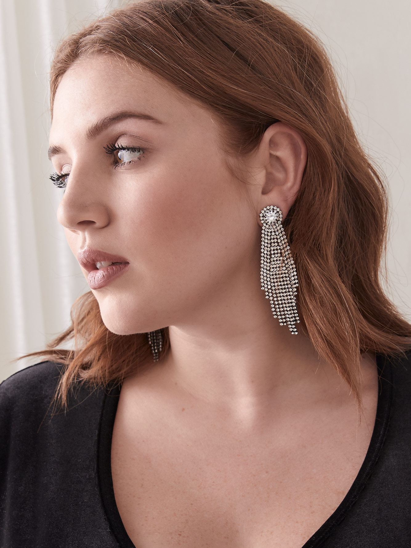 Oversized Chandelier Earrings with Zirconia - Addition Elle