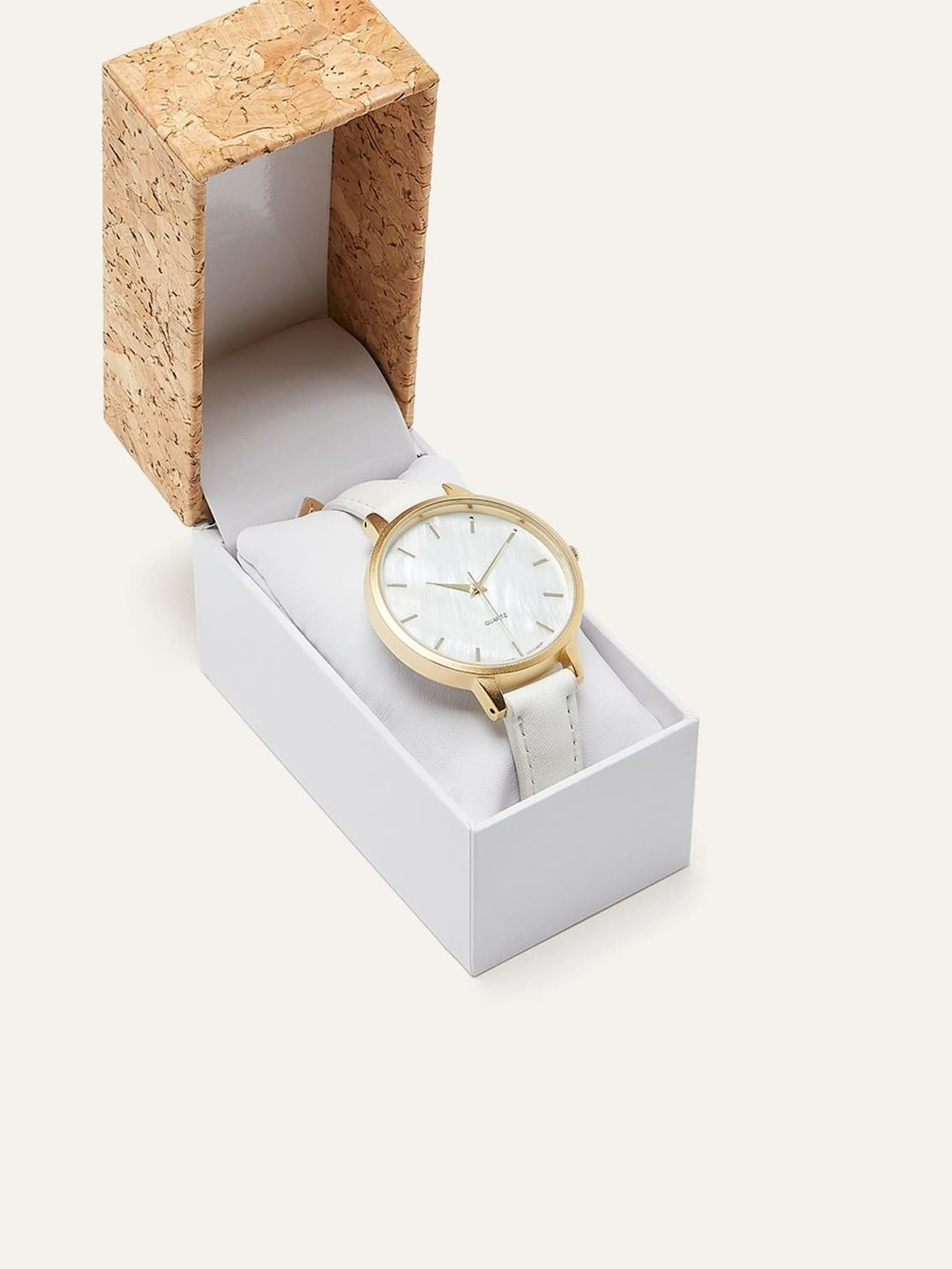 Strap Watch with Mother of Pearl Dial
