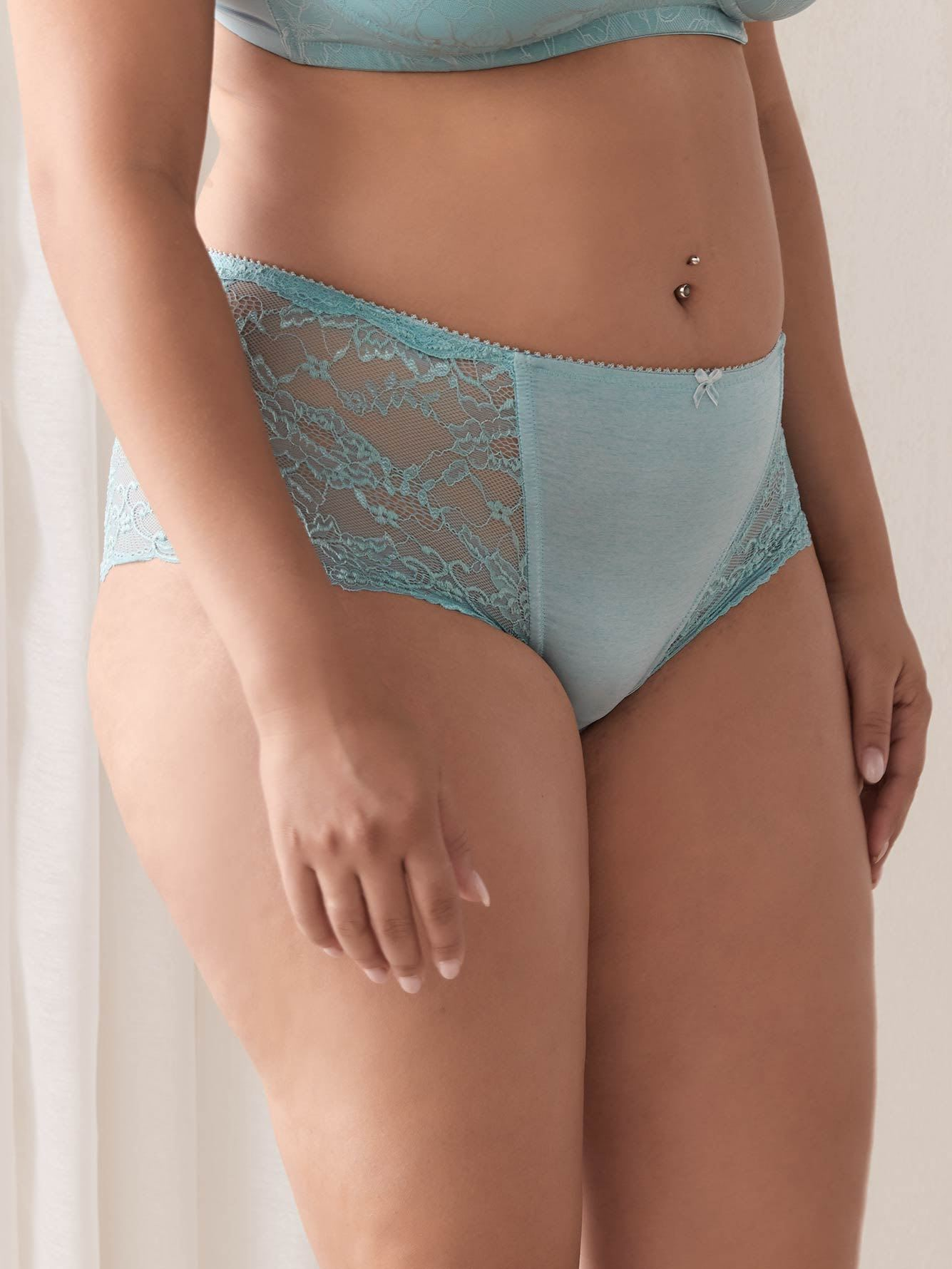 Lace and Microfibre Boyshort Panty - ti Voglio