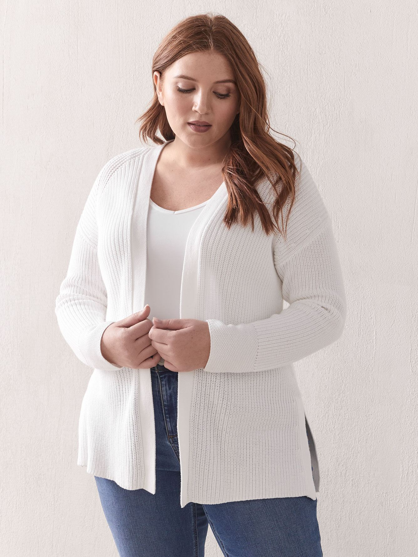 High-Low Edge to Edge Cardigan - Addition Elle