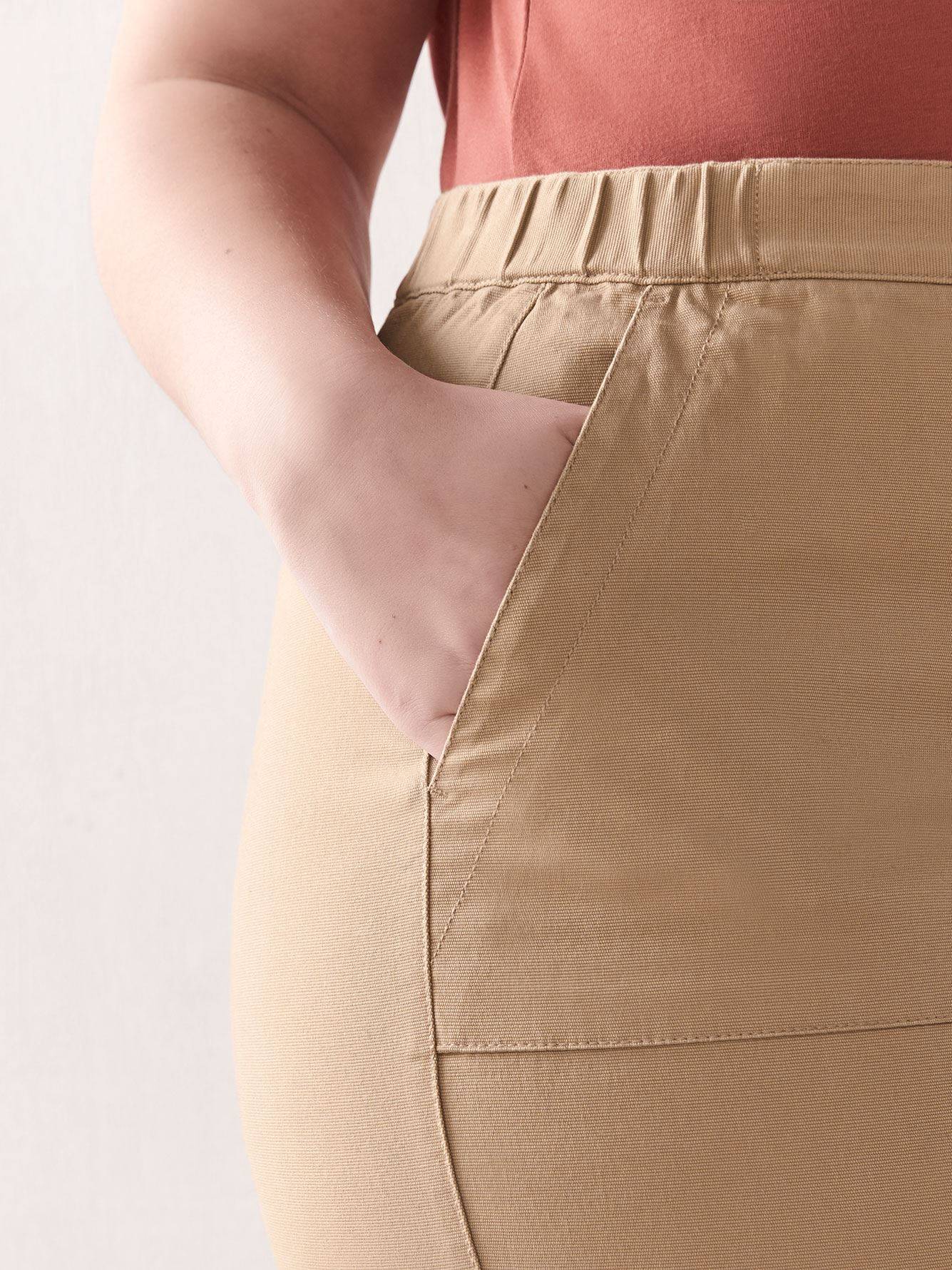 Cropped High-Waist Pant - Addition Elle