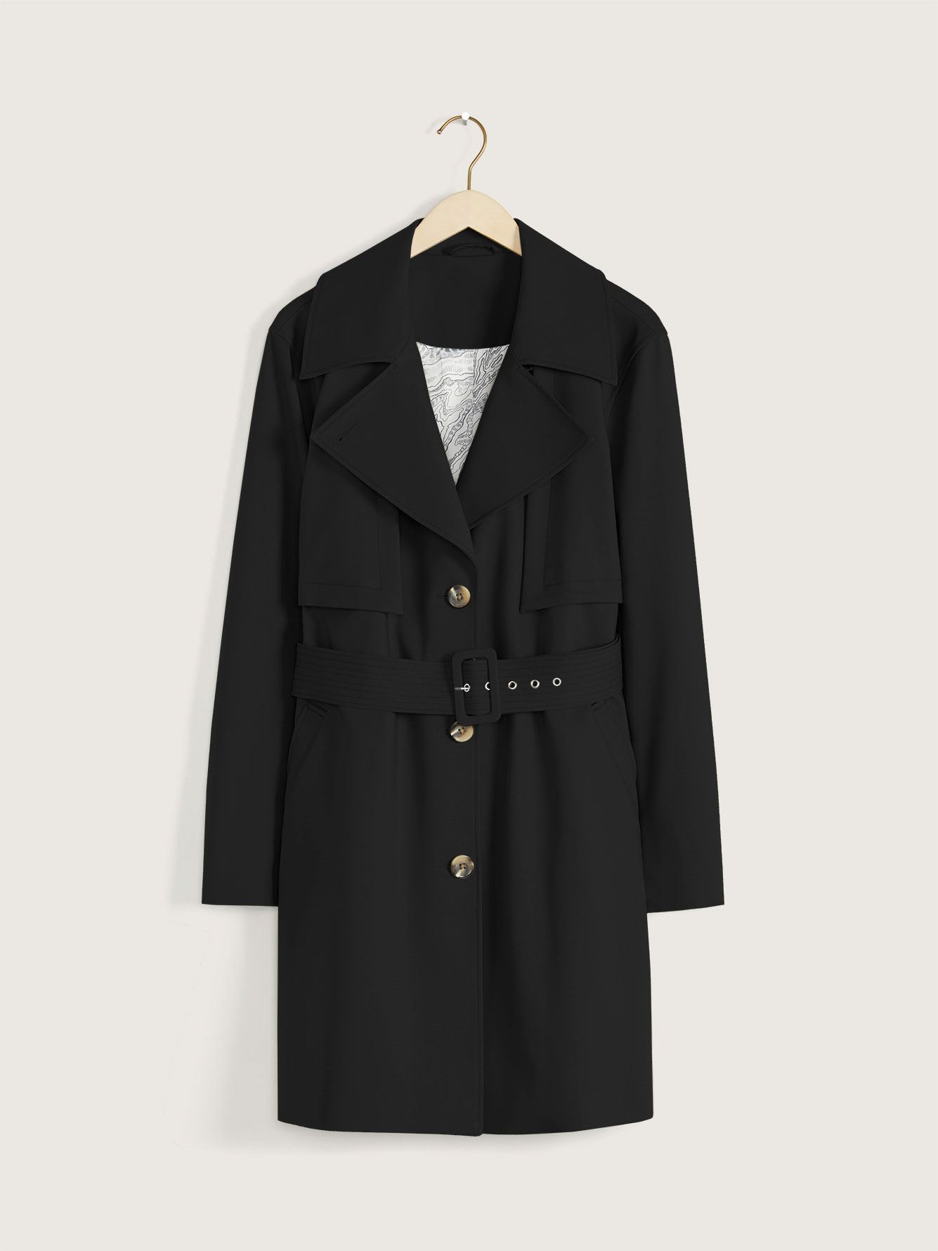 Single-Breasted Trench Coat - Addition Elle