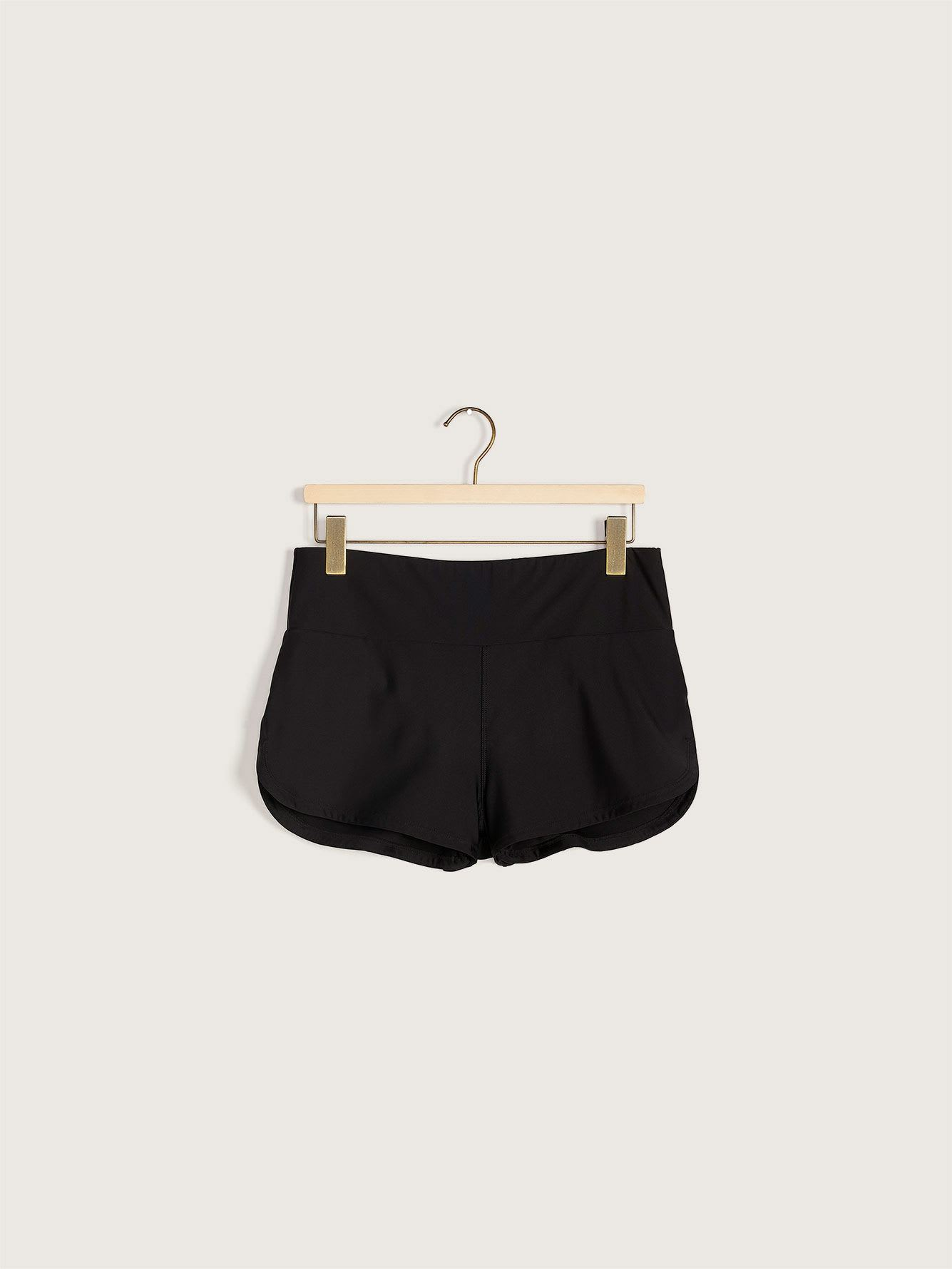 Swim Shorts with Fold-Over Waistband - Addition Elle