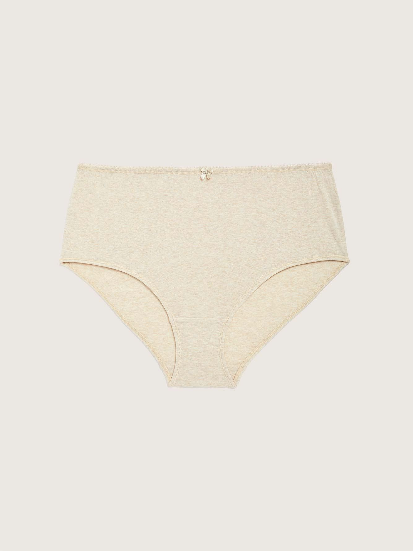 Heathered Cotton Brief Panty - ti Voglio
