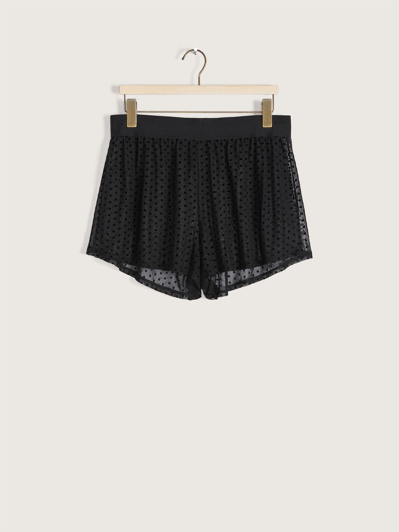 Dot Mesh Pajama Shorts - Ashley Graham