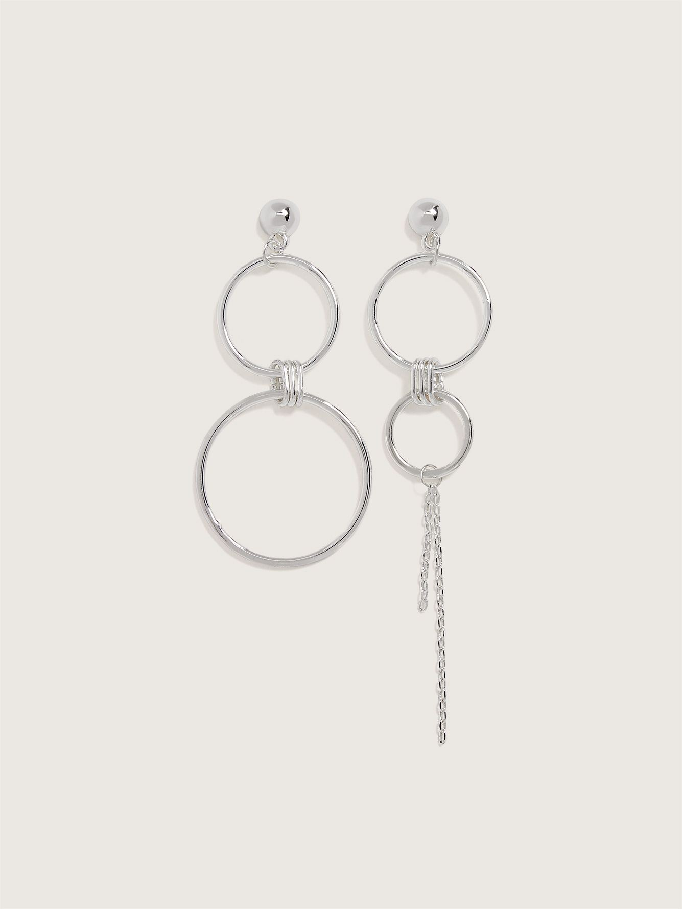 Plated Asymetrical Earrings - Addition Elle