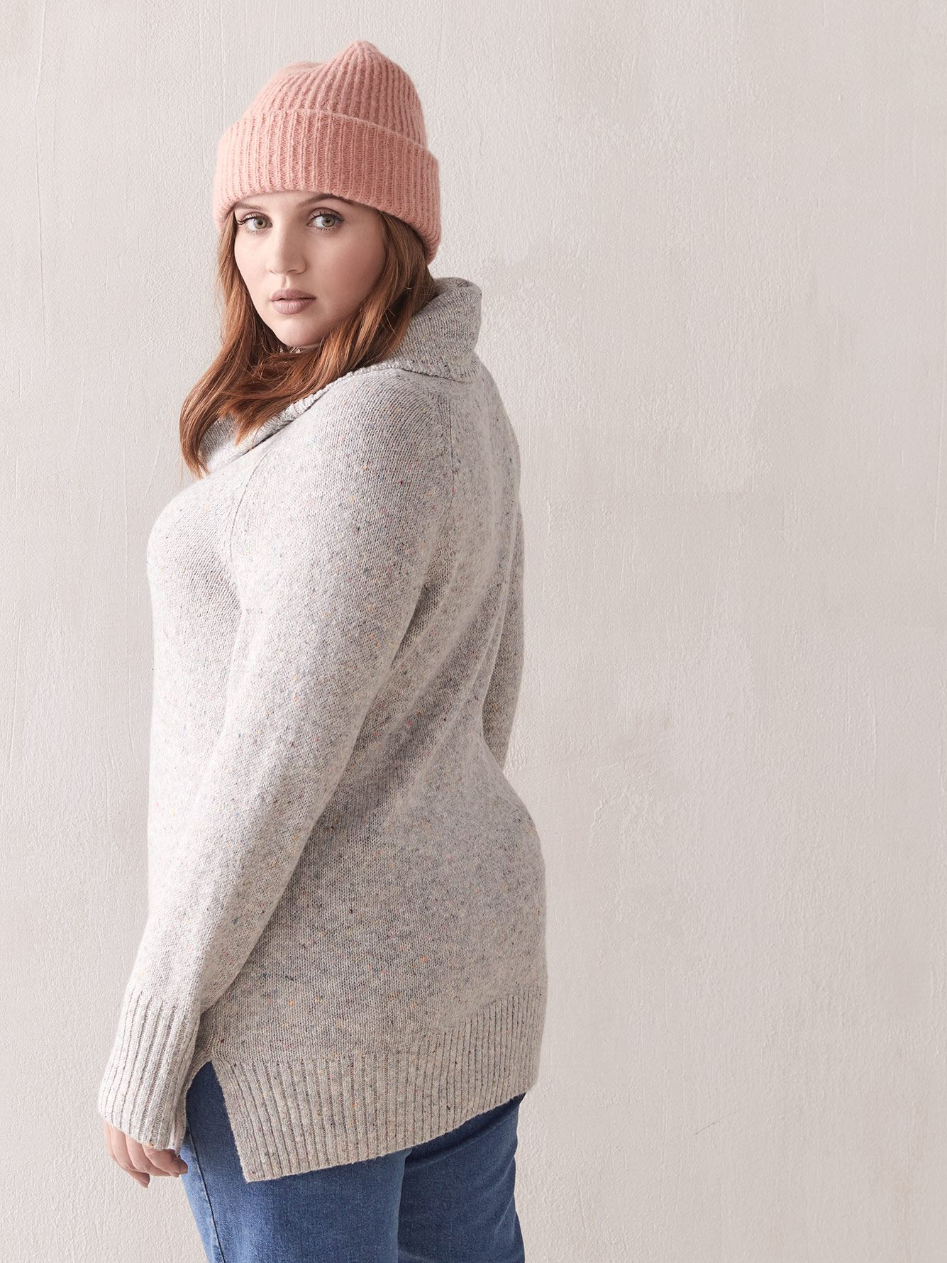 Long Cowl-Neck Sweater - Addition Elle